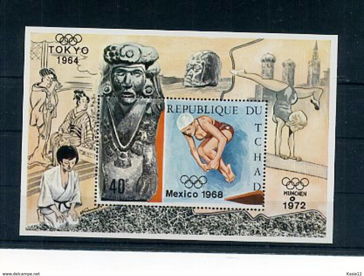 A33178)Olympia 68: Tschad Bl 11 A** - Zomer 1968: Mexico-City