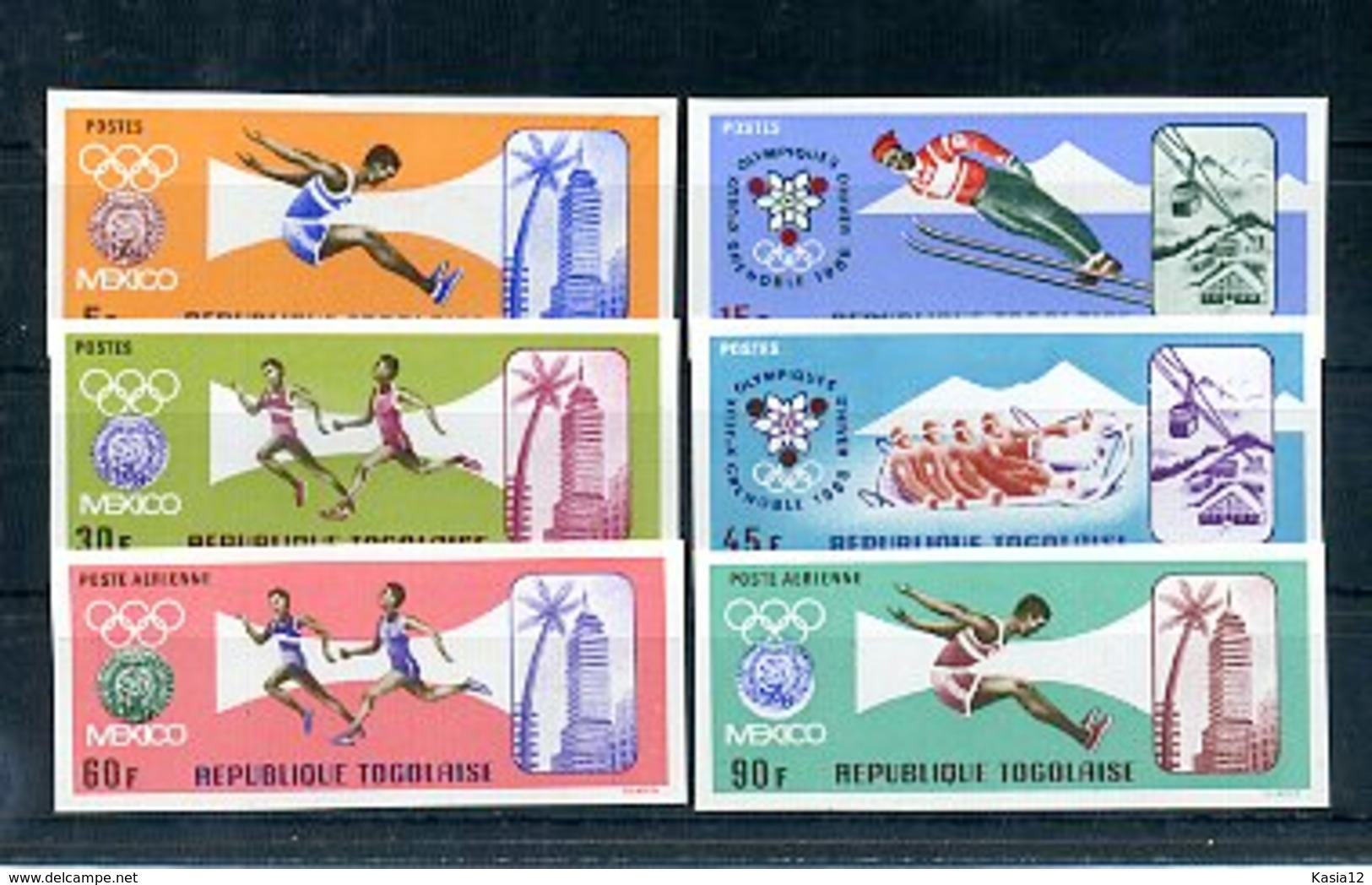 A33185)Olympia 68: Togo 626 - 631 B** - Sommer 1968: Mexico
