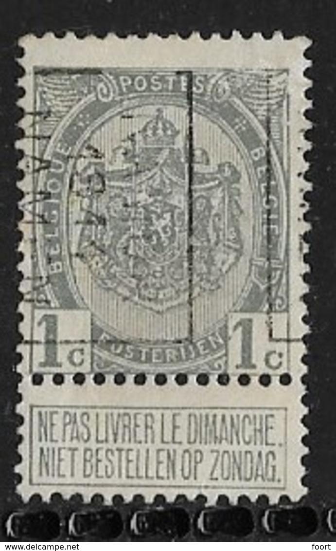 Namen  1911  Nr. 1642B - Roller Precancels 1910-19