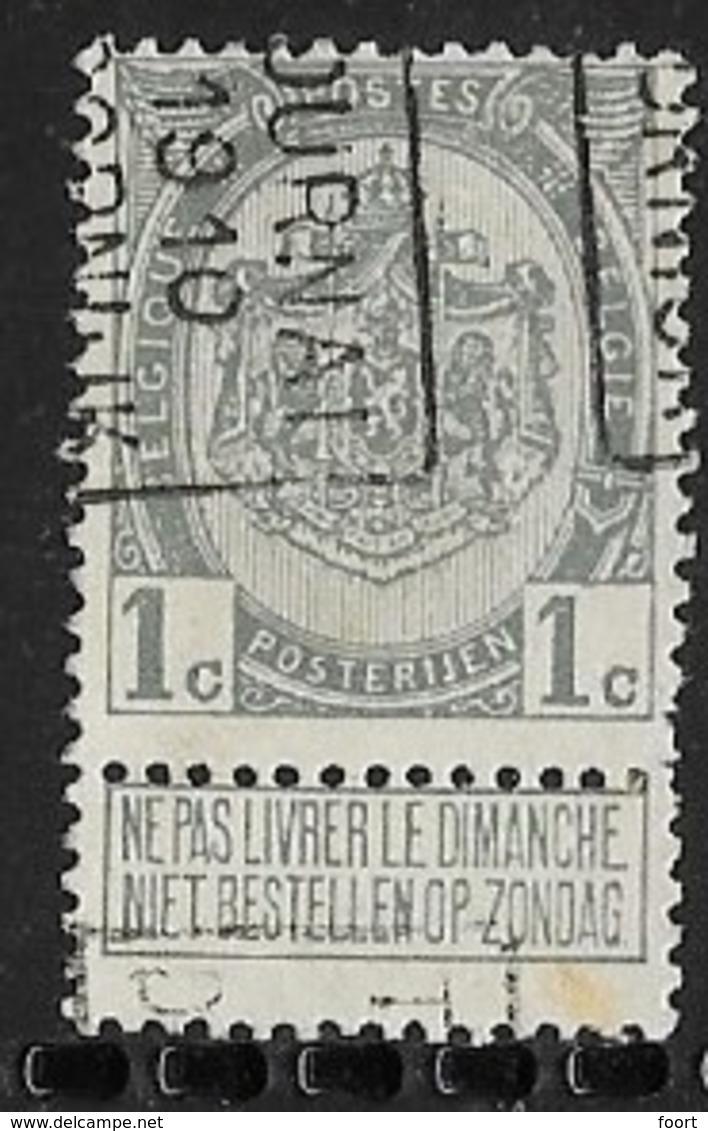 Tournai 1910  Nr. 1488B - Roller Precancels 1910-19