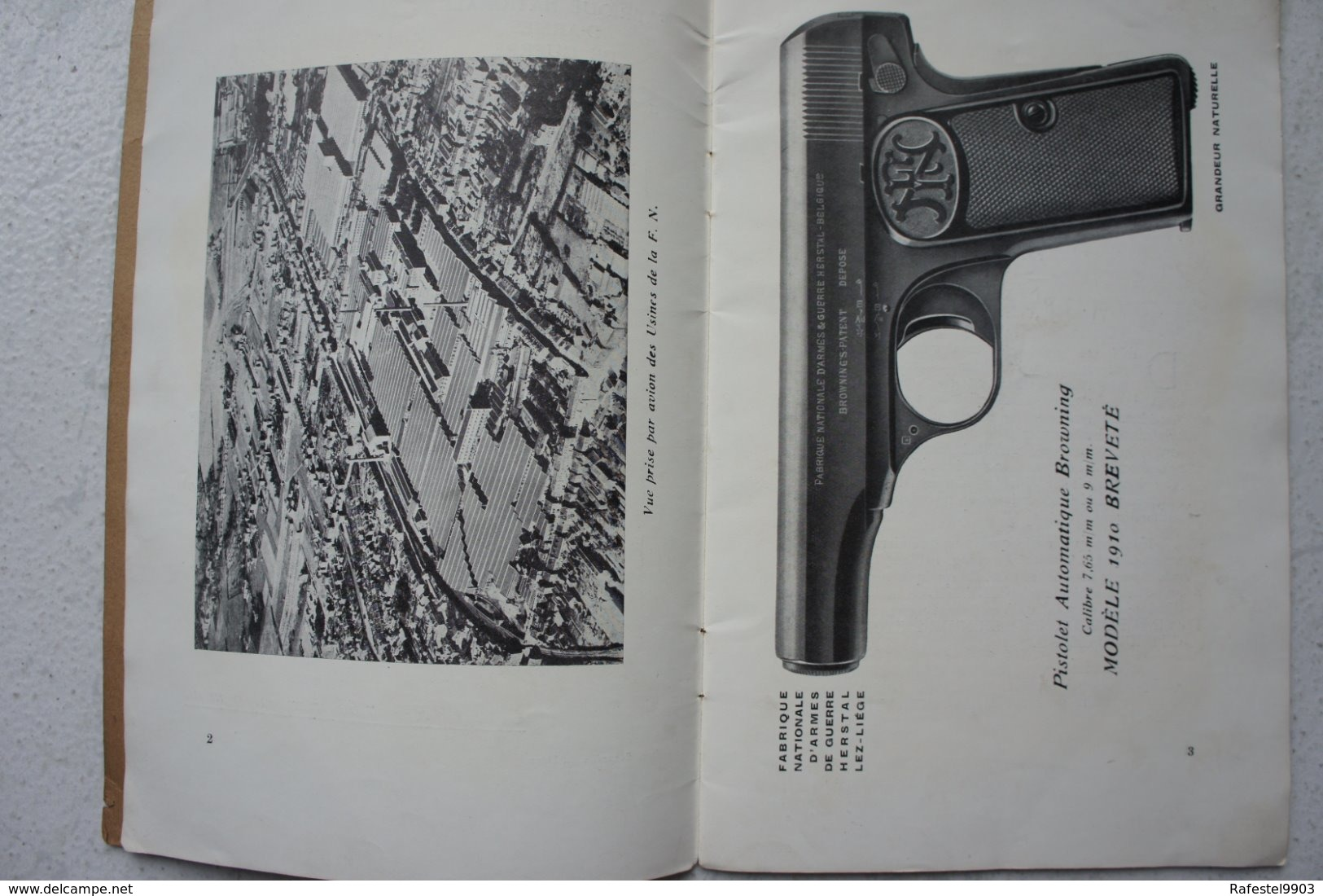 Broche Publicité Pistolet BROWNING Automatique Cal 7.65 Mod 1910 FN Herstal Liège Catalogue - Publicités