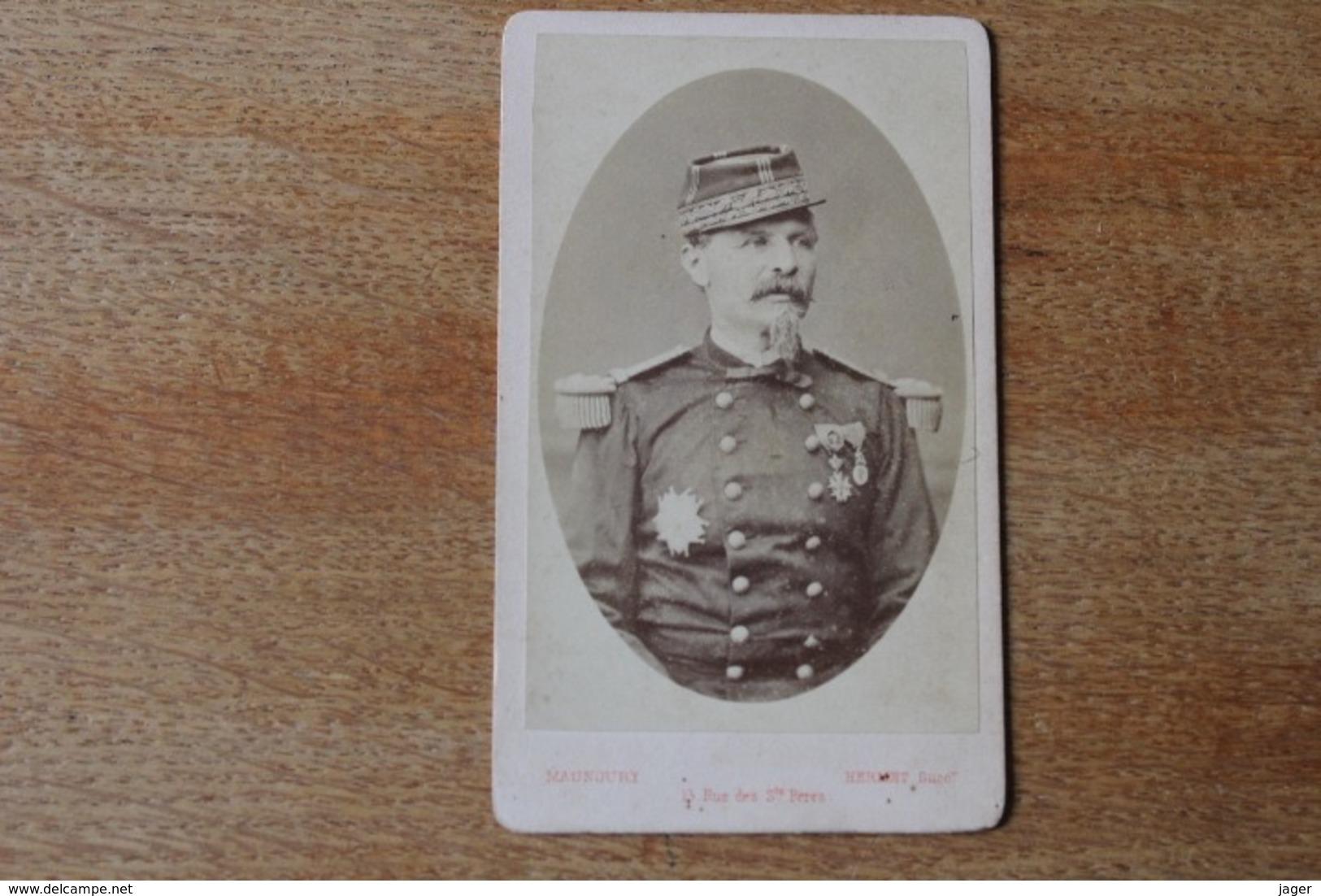 Cdv Second Empire Militaire Général Avec Décorations Et Képi   Général CHANZY - Guerra, Militari
