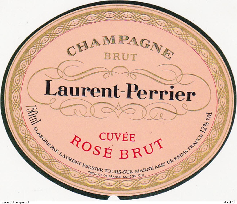 Etiquette Champagne CUVEE ROSE BRUT - Laurent-Perrier à Tours-sur-Marne (51) / 750 Ml - Champagne