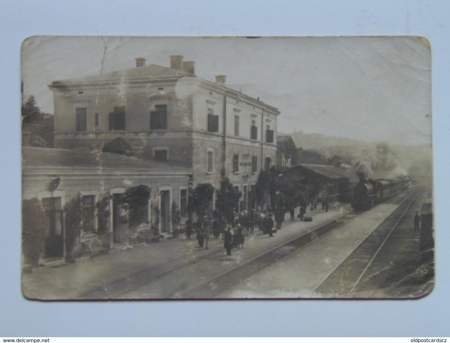 Italia 41 Stazione Ferroviaria Treno Animata Bella 1920 Bahnhof Station Train Zug Tram Italy - Italia