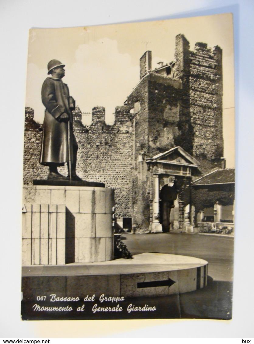 MONUMENTO AL GENERALE GIARDINO  BASSANO DEL GRAPPA  VICENZA   VENETO VIAGGIATA CONDIZIONI FOTO - Vicenza