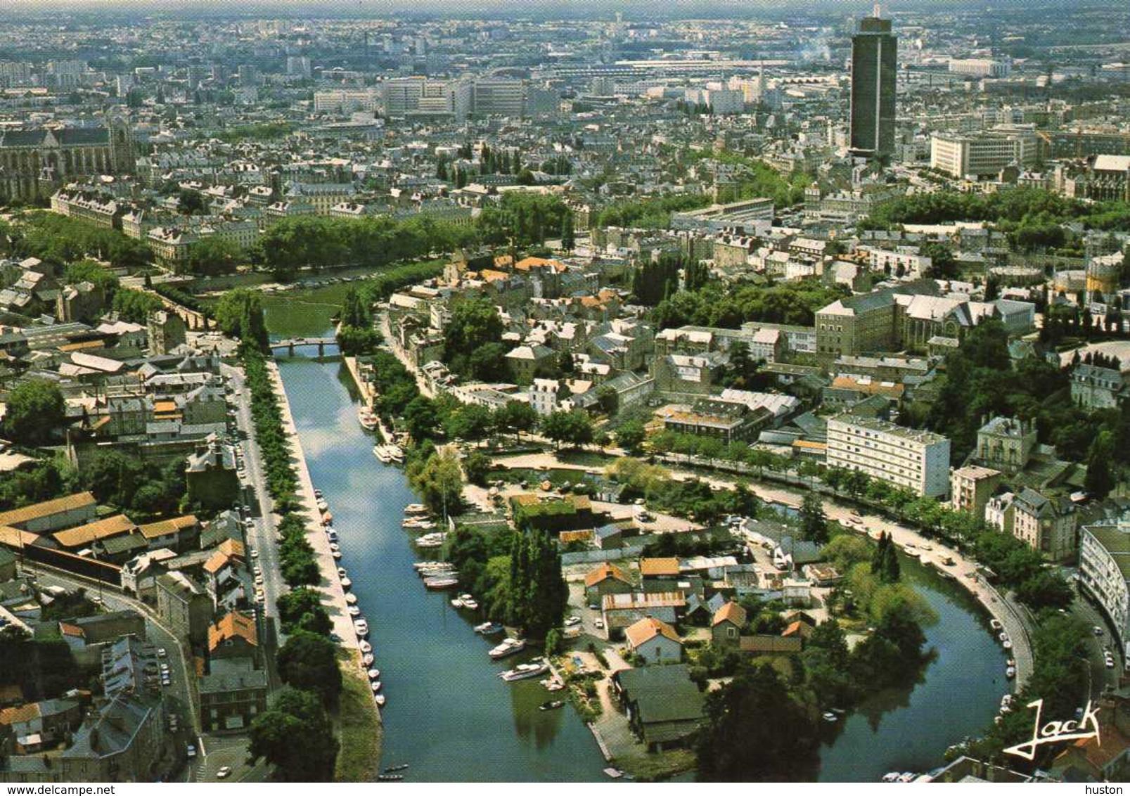 NANTES - Vue Générale Sur L'Erdre Et L'Ile De Versailles - Nantes