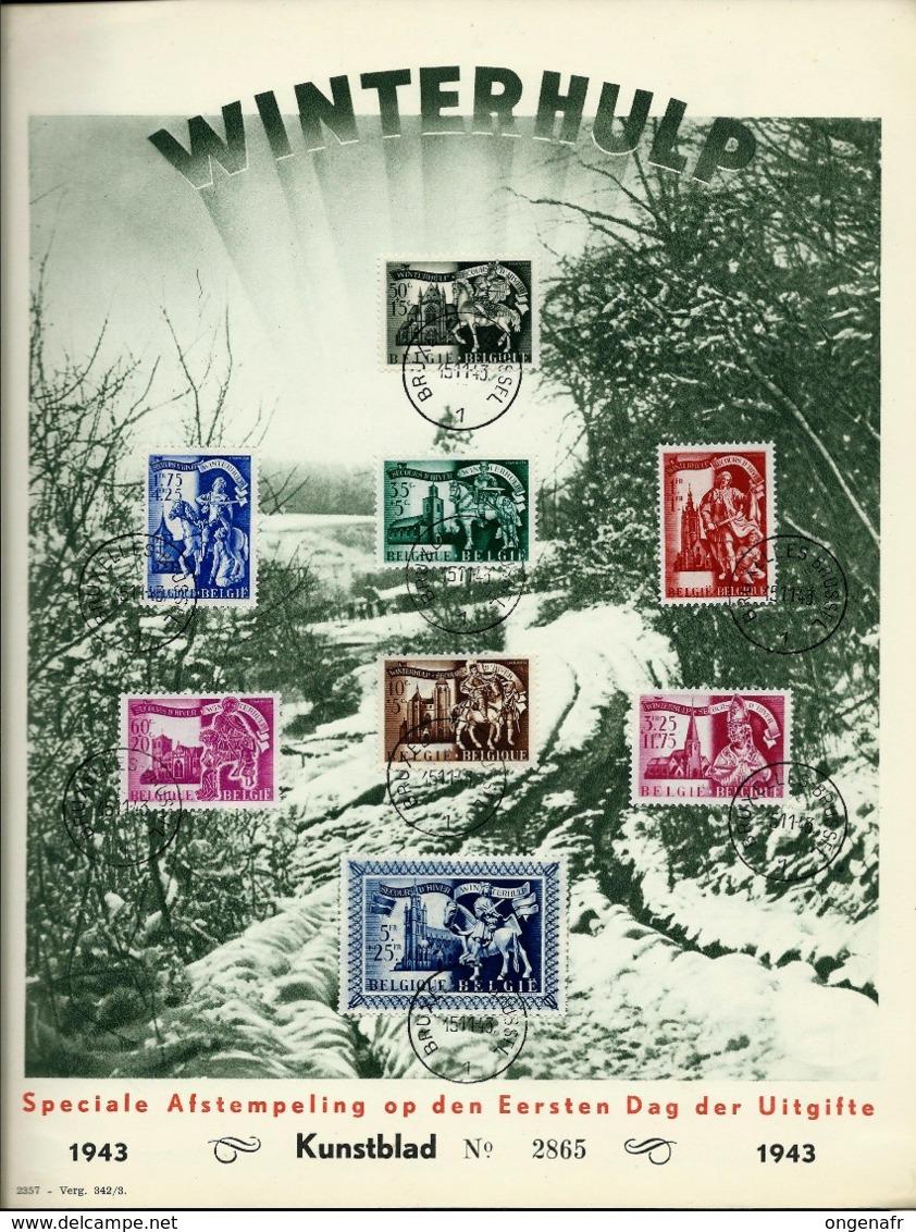 Format A4  Des N° 631/38  En Flamands  Obl. Bxl 15/11/43 (76 Ans Demain) - ....-1951