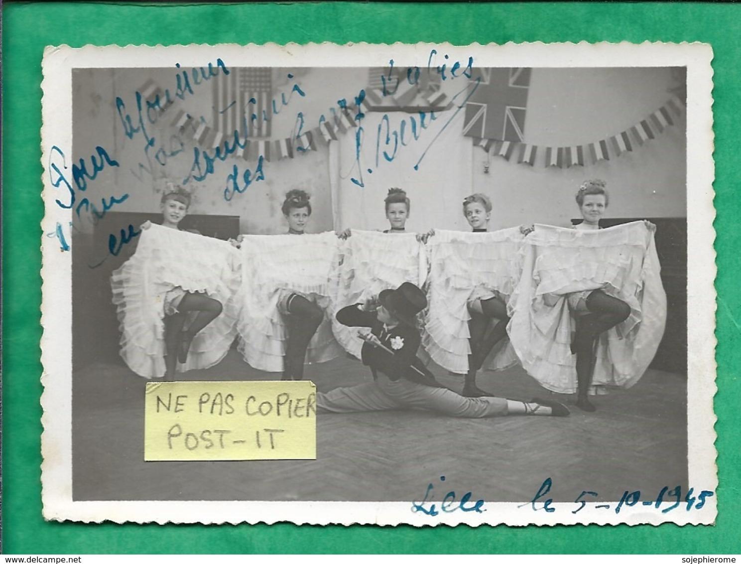 Photographie Originale Dédicacée Lille (59) 05-10-1945 French Cancan Souvenir Des Berry Ladies S. Berry 2scans - Fotos Dedicadas