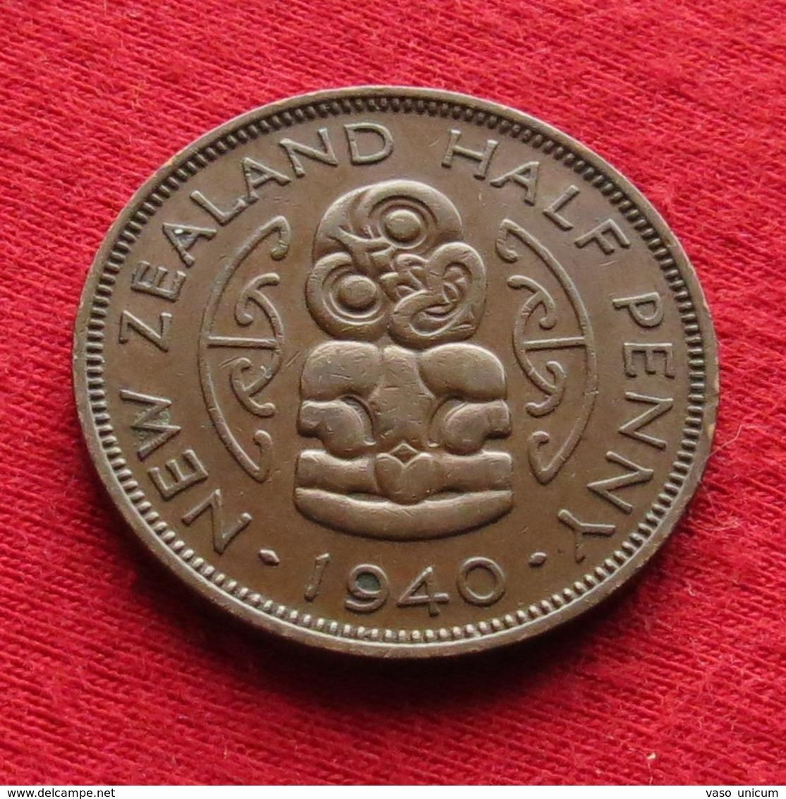 New Zealand 1/2 Half Penny 1940 Bird Nova Zelandia Nuova Zelanda Nouvelle Zelande - New Zealand