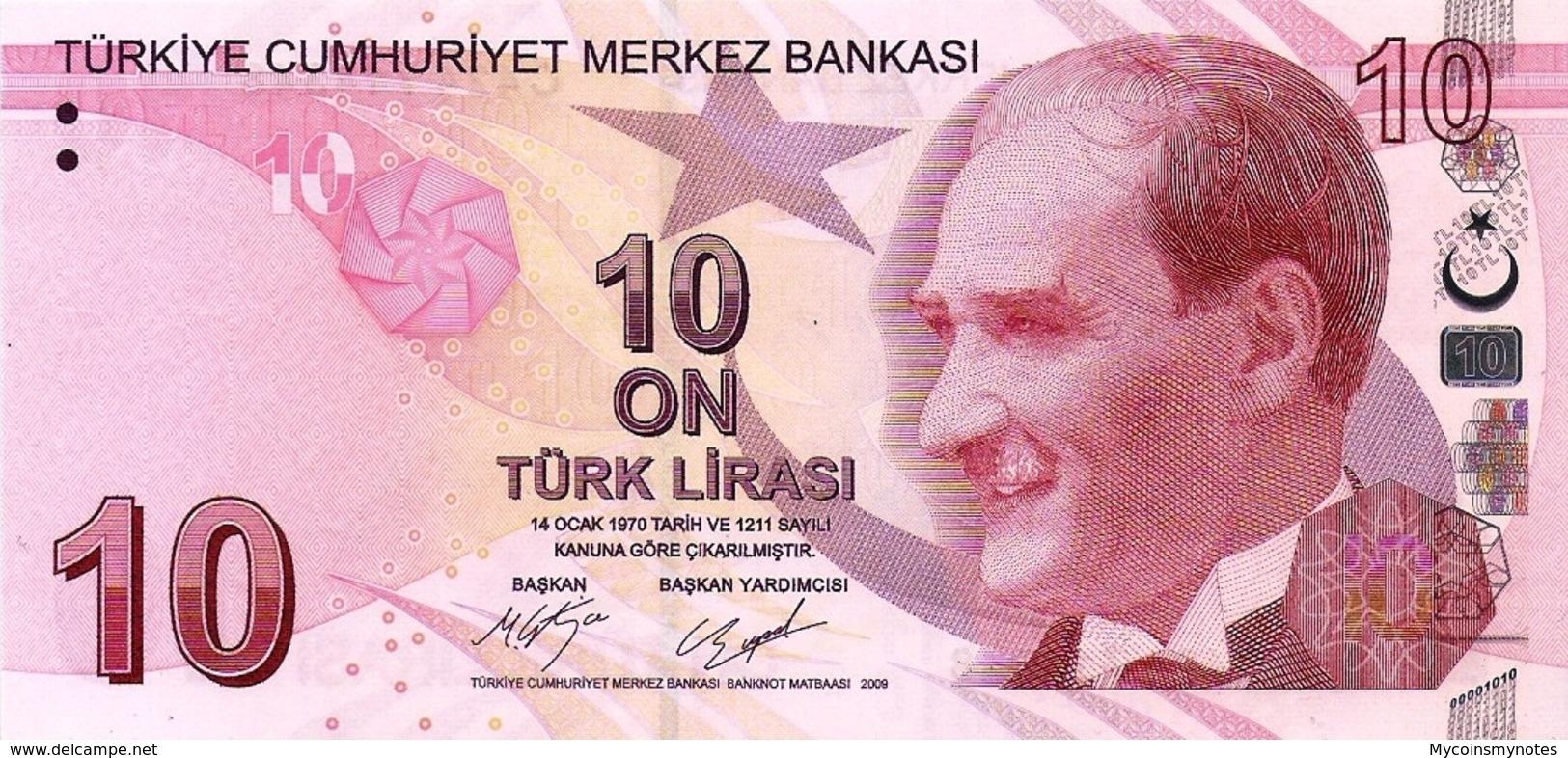 TURKEY, 10 Turkish Lira, 2017, P223, Series C, UNC - Turchia