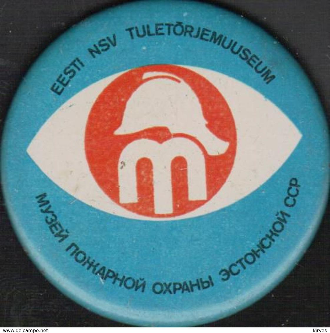 Badge Soviet Estonian Fire Museum - Brandweerman