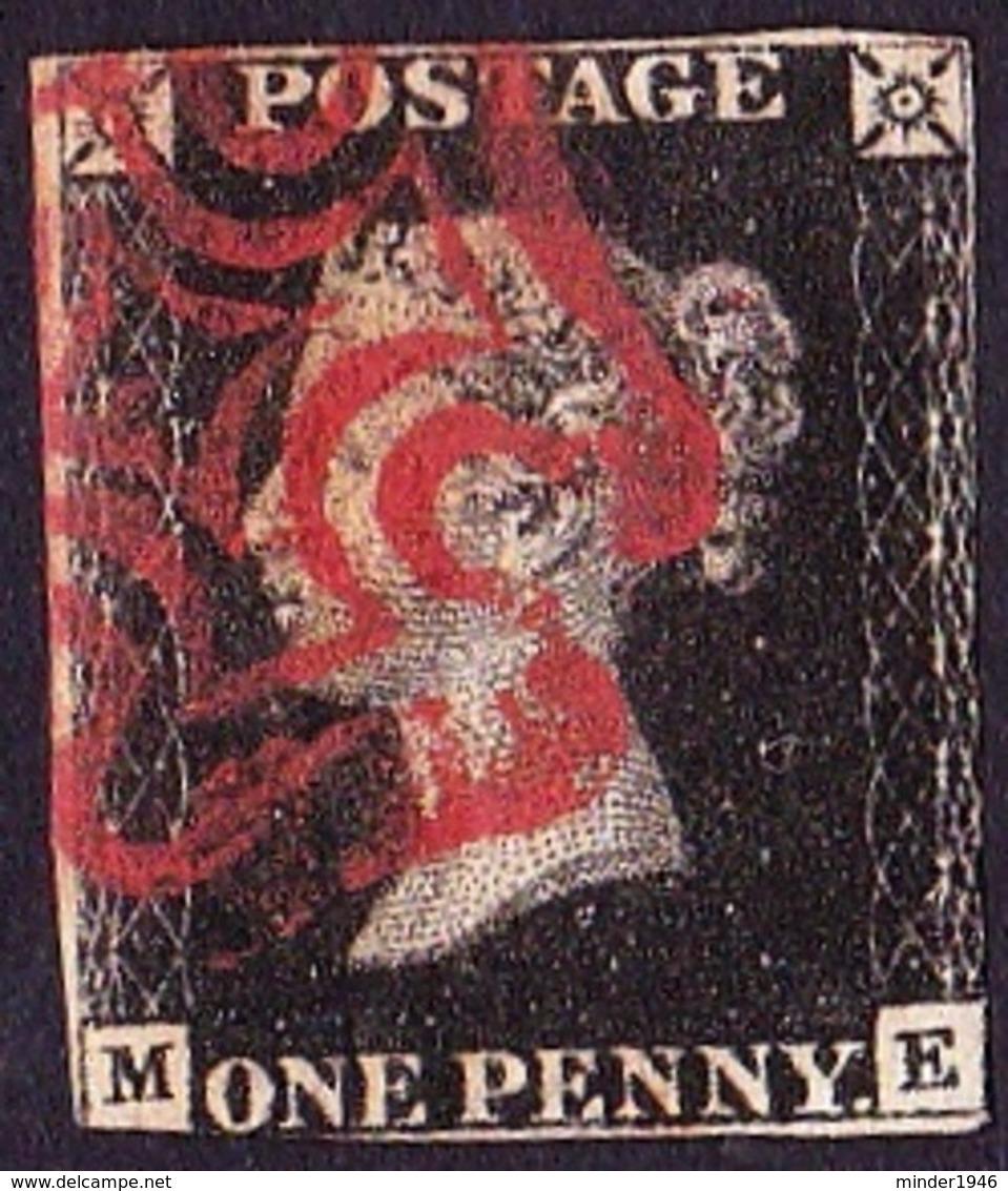 GREAT BRITAIN 1840 SG1g 1d Black M-E Red Maltese Cross CV £525 - 1840-1901 (Victoria)