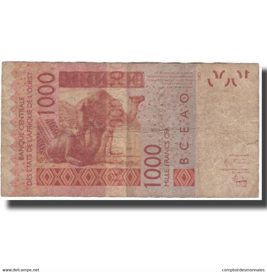 Billet, West African States, 1000 Francs, 2003, KM:715Ka, B - West African States