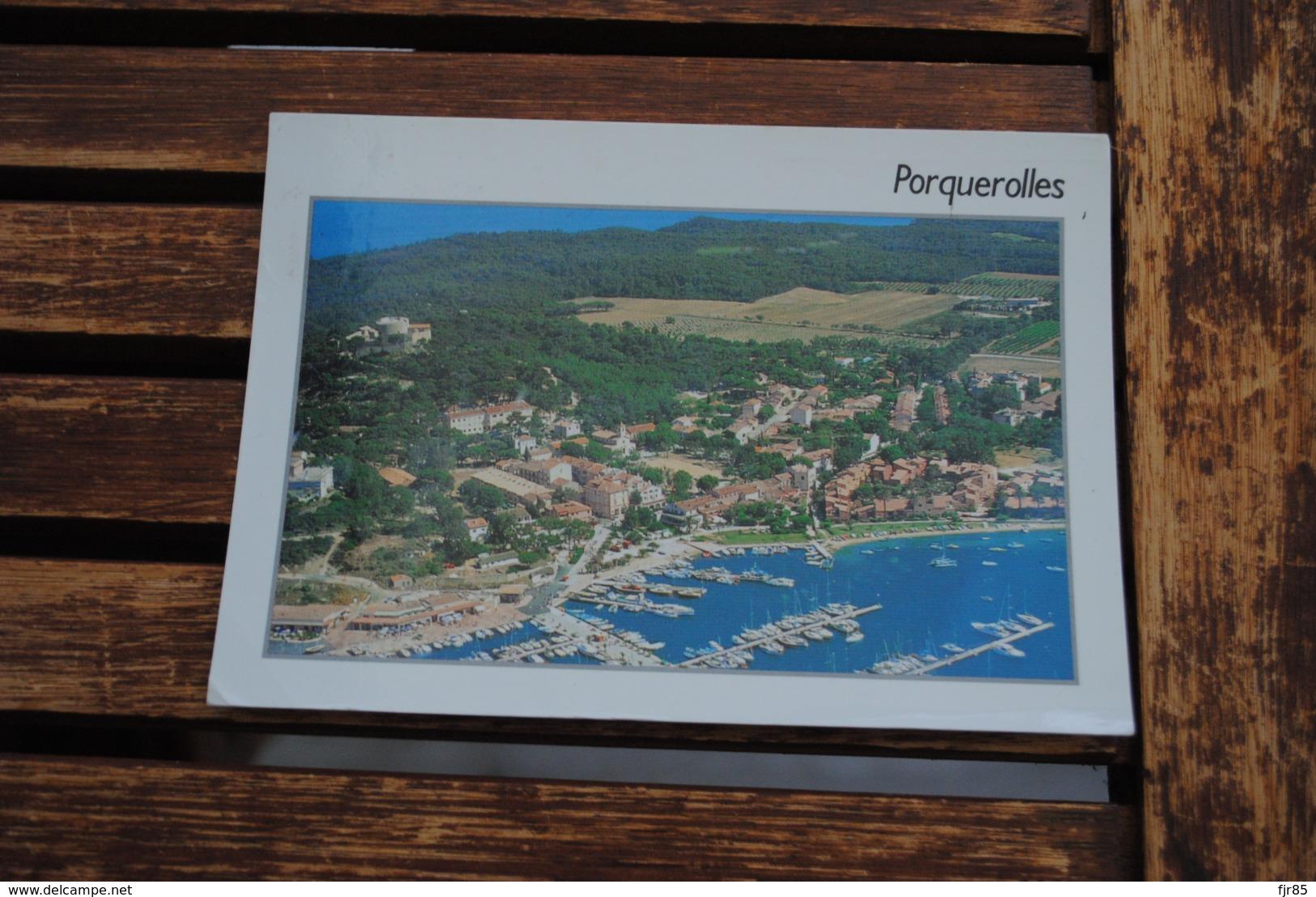 PORQUEROLLES VUE AERIENNE DU VILLAGE PHOTO N FRANGOS - Porquerolles