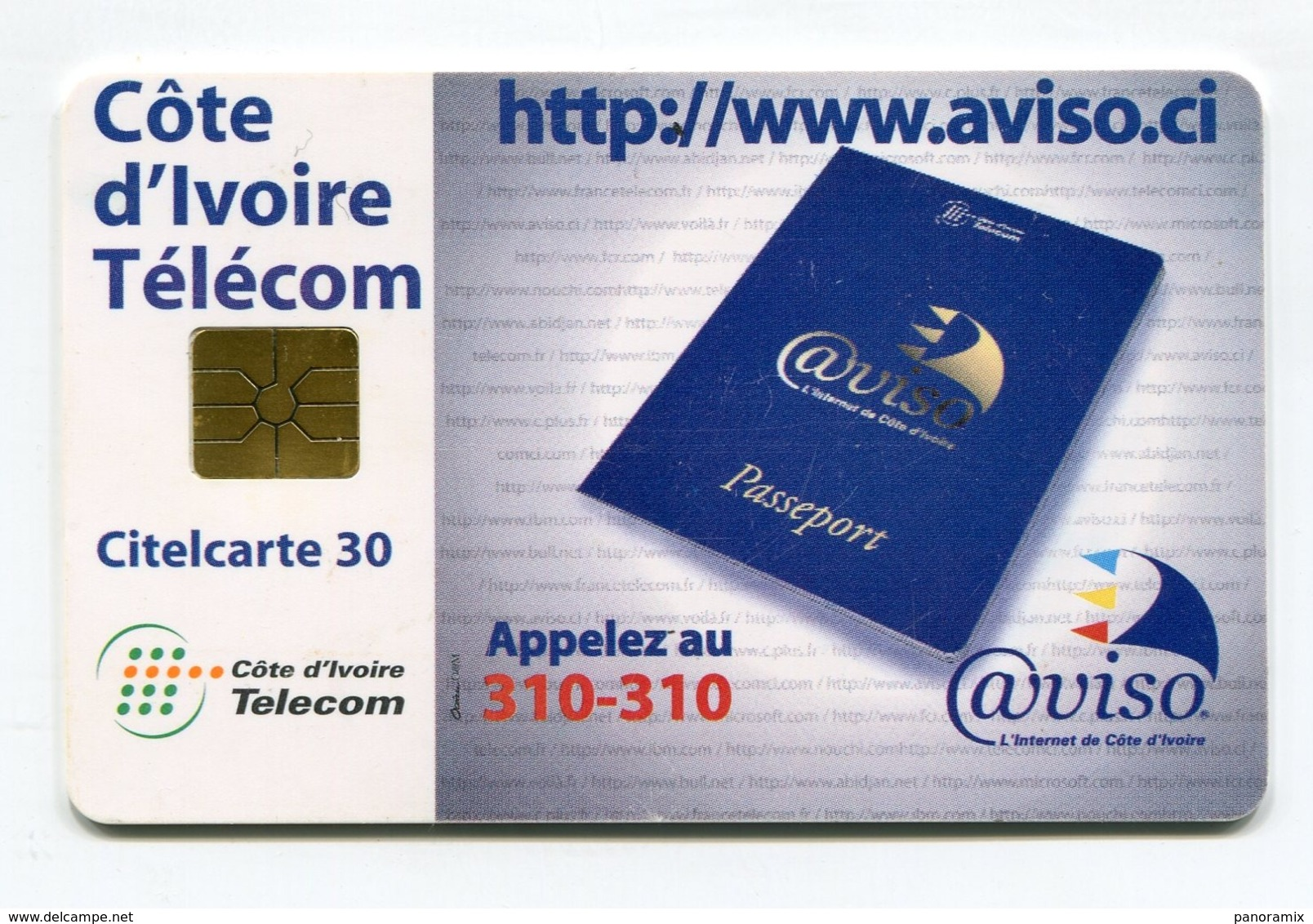 Telecarte °_ Côte Ivoire-CIT.Aviso.ci-gem-Citel 30- R/V 0786 - Ivoorkust