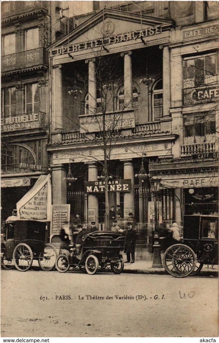 CPA PARIS (2e) Le Theatre Des Varietes. (538157) - France