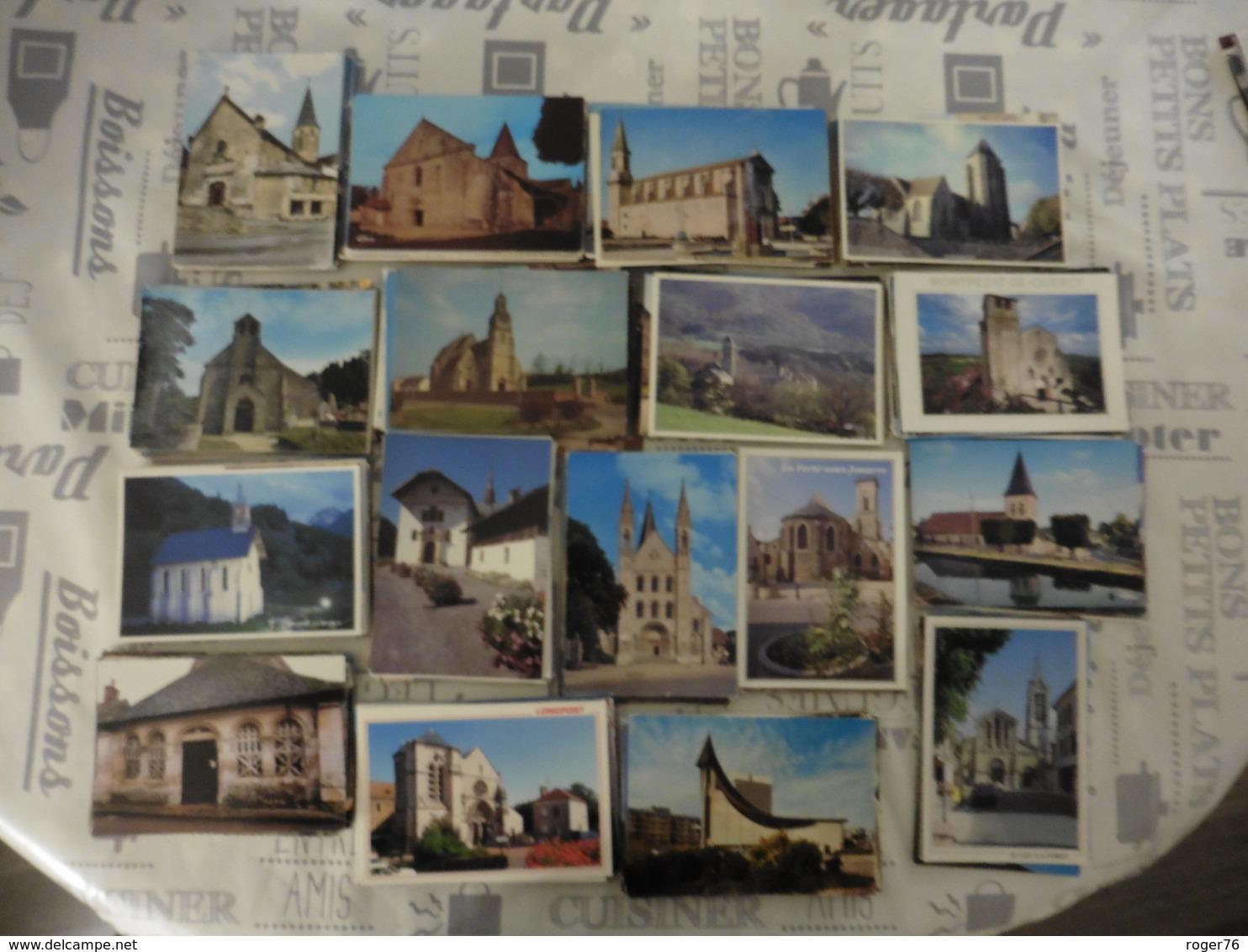 LOT  DE  1114 CARTES POSTALES   D  EGLISES   DE  FRANCE - Cartes Postales