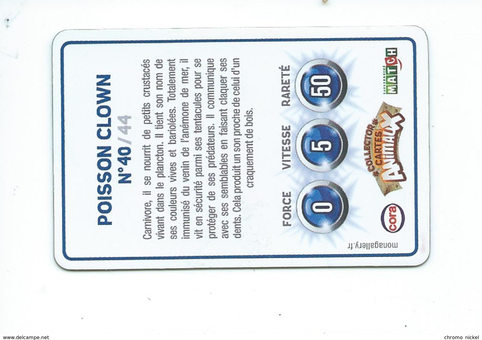 """Poisson Clown """" NEMO """" Carte Lenticulaire Plastique 85 X 55 Mm TB 2 Scans - Sonstige"""