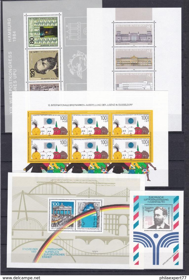 BRD - 1984/97 - Block Sammlung - Postfrisch - BRD