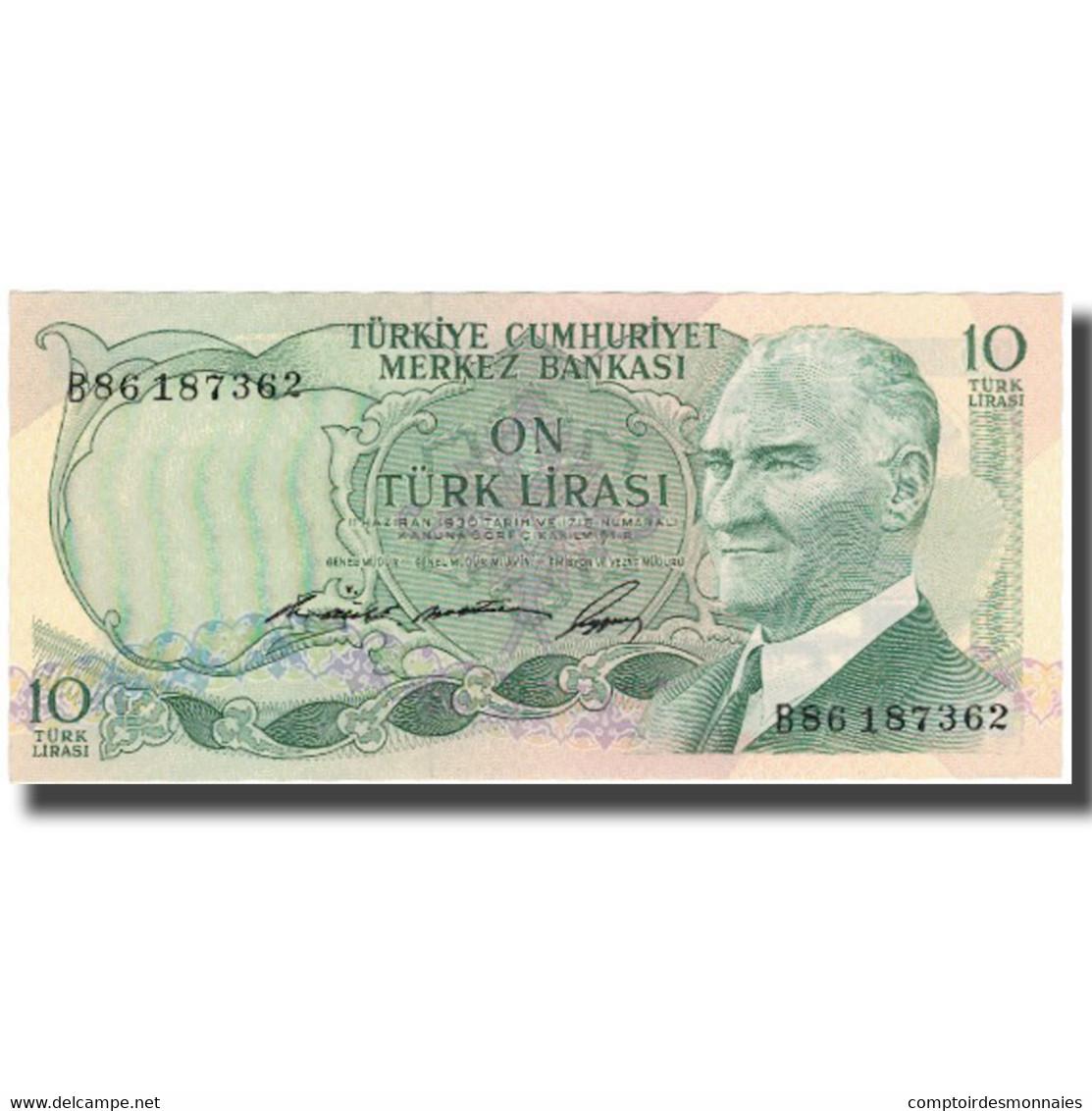 Billet, Turquie, 10 Lira, KM:180, SUP - Turkey