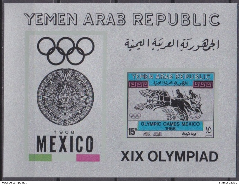 1968Yemen YAR 749/B72bsilber1968 Olympic Games In  Mexiko18,00 € - Verano 1968: México