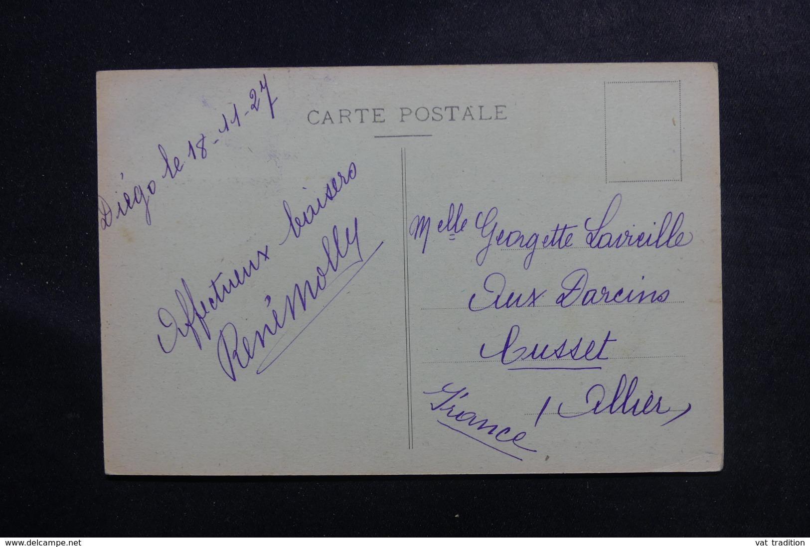 MADAGASCAR - Affranchissement Plaisant De Diego Suarez Sur Carte Postale ( Phare ) En 1927 Pour La France - L 46991 - Madagaskar (1889-1960)