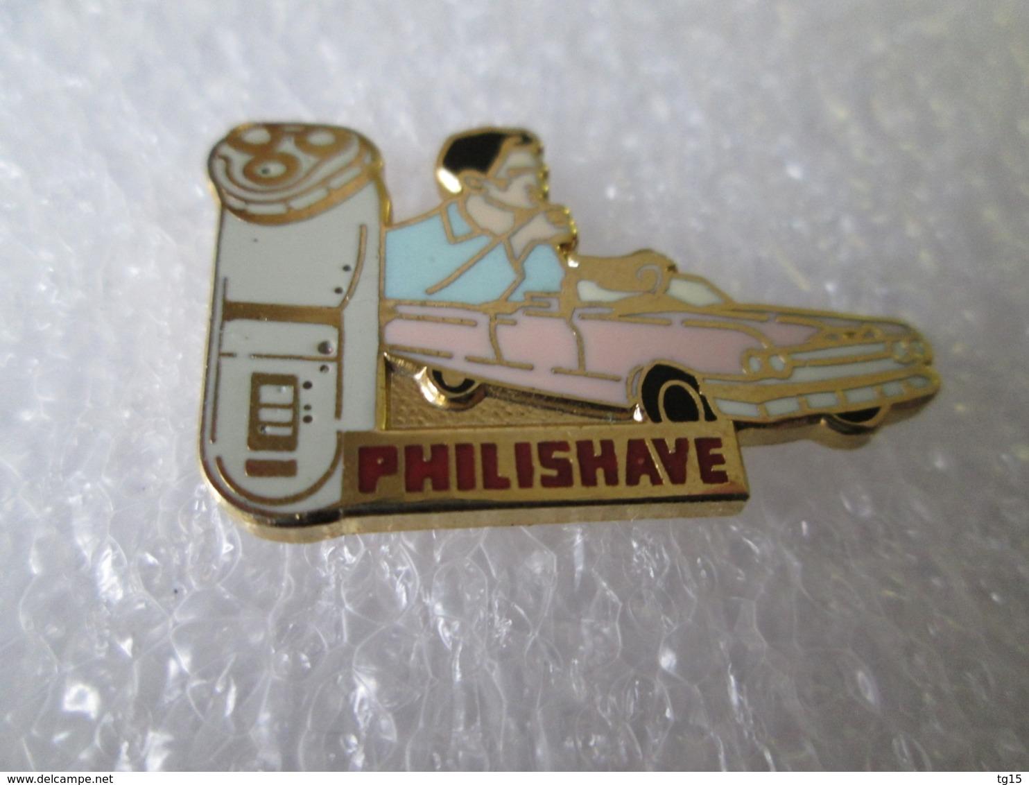 PIN'S   PHILIPS  PHILISHAVE  CADILLAC  Version Zamak  A B - Pins