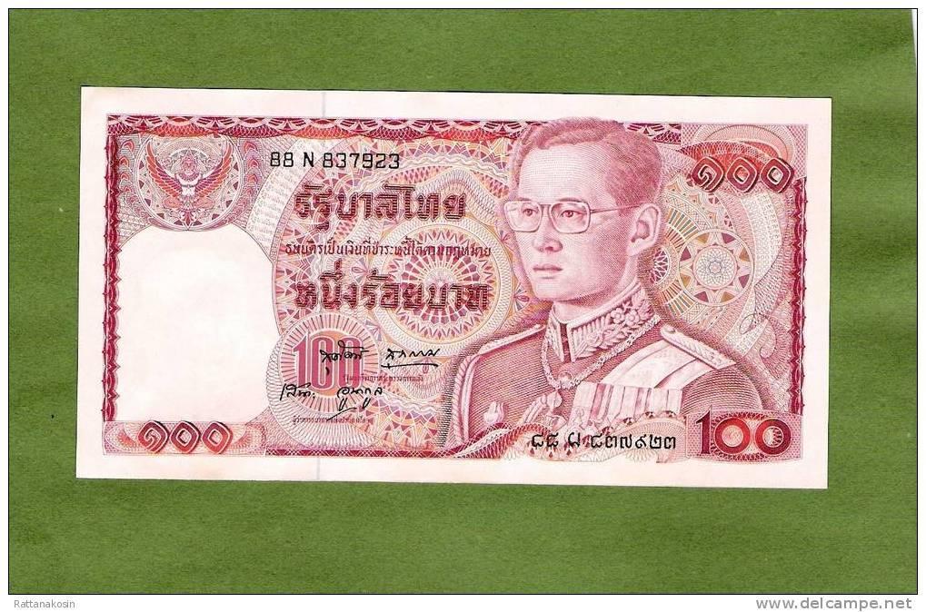 THAILAND P89a  100  BAHT  1978  #88N  SIGNATURE 49 * FIRST SIGNATURE * RARE UNC. - Thailand