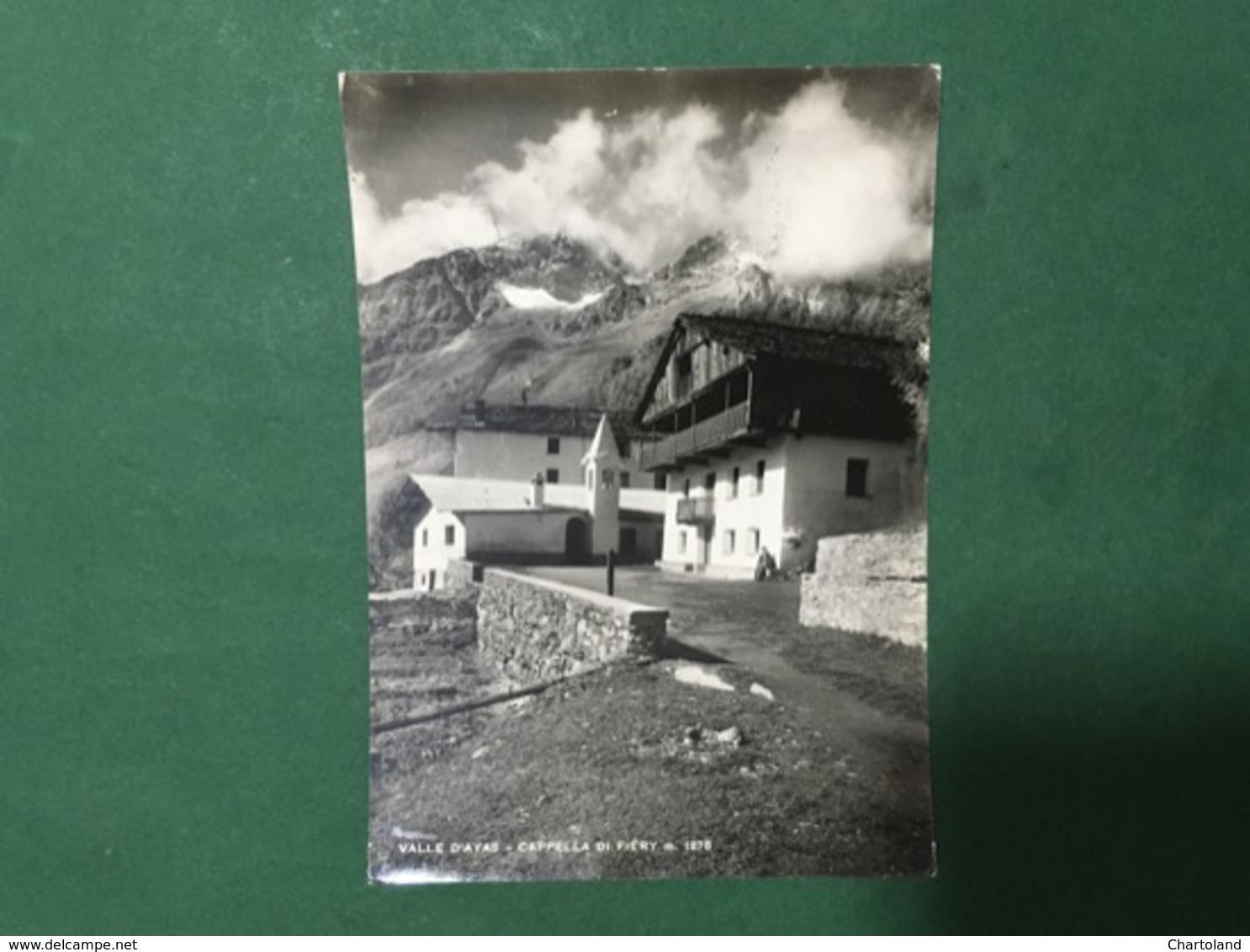 Cartolina La Valle D'Ayas - La Chappelle De Fiery - 1964 - Italy