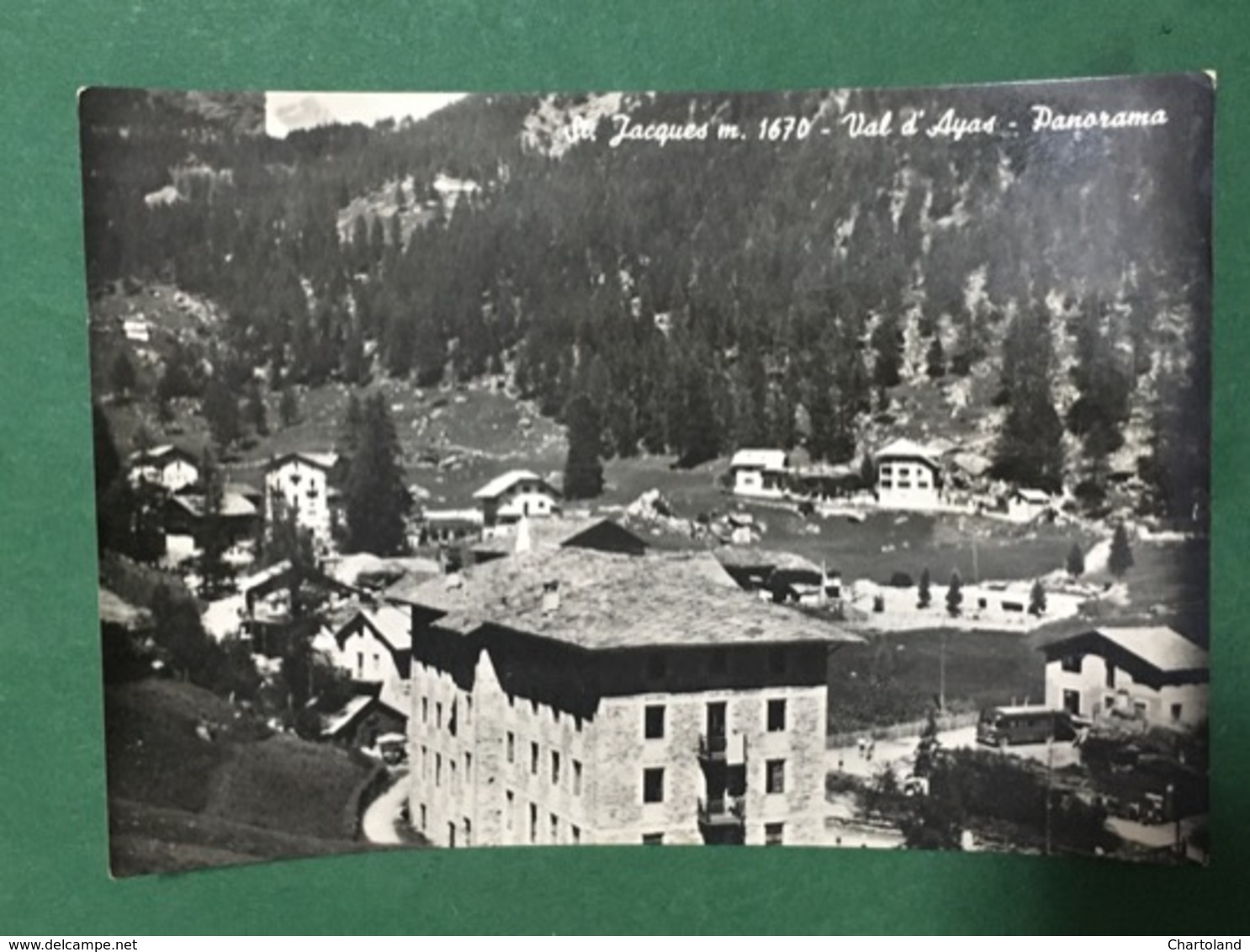Cartolina St Jacques - Val D'Ayas - Panorama - 1952 - Italy