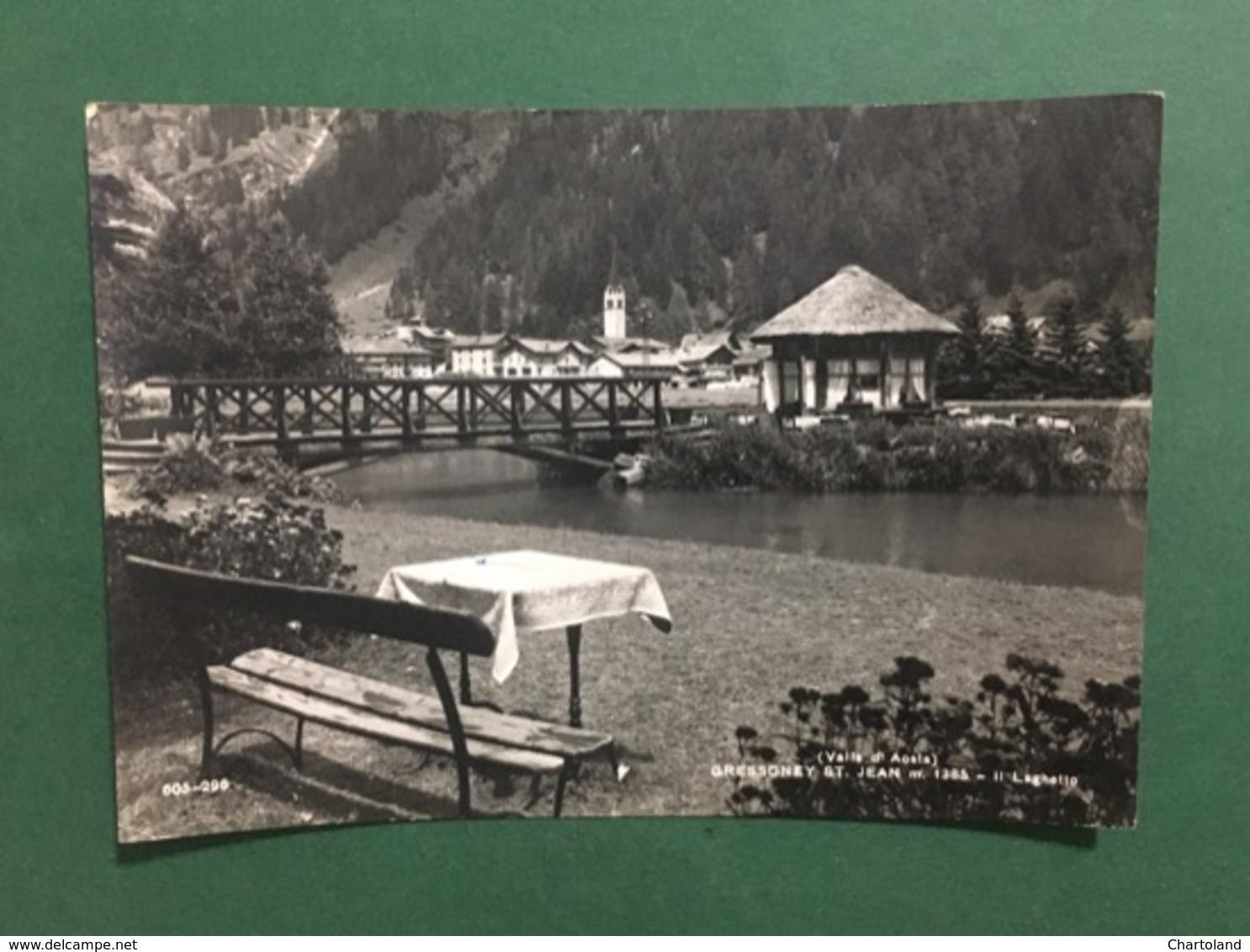 Cartolina Valle D'Aosta - Gressoney St. Jean - Il Laghetto - 1960 - Italy