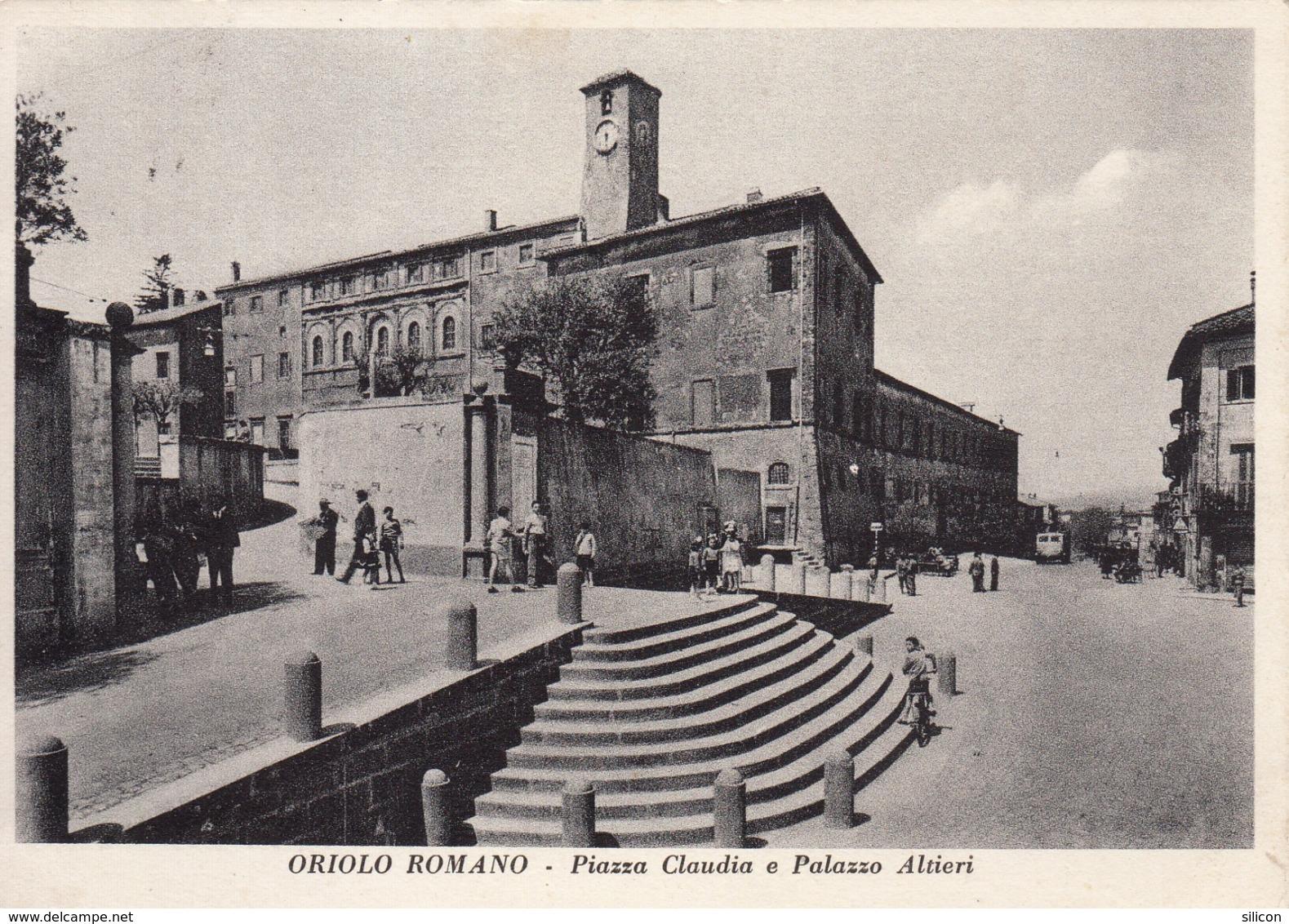 Oriolo Romano - Piazza Claudia E Palazzo Altieri - Viterbo
