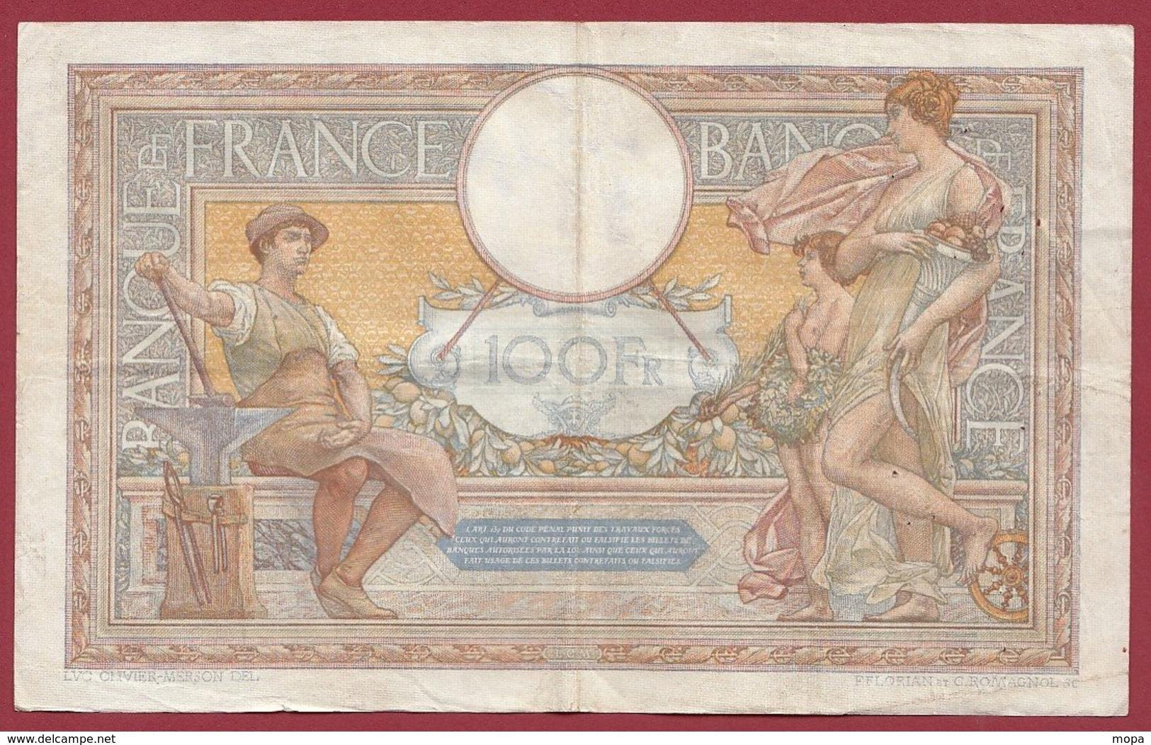 "100 Francs ""Luc Olivier Merson"" Du 29/12/1932.J.Q----F/TTB+---ALPH .D.38428 - 1871-1952 Gedurende De XXste In Omloop"