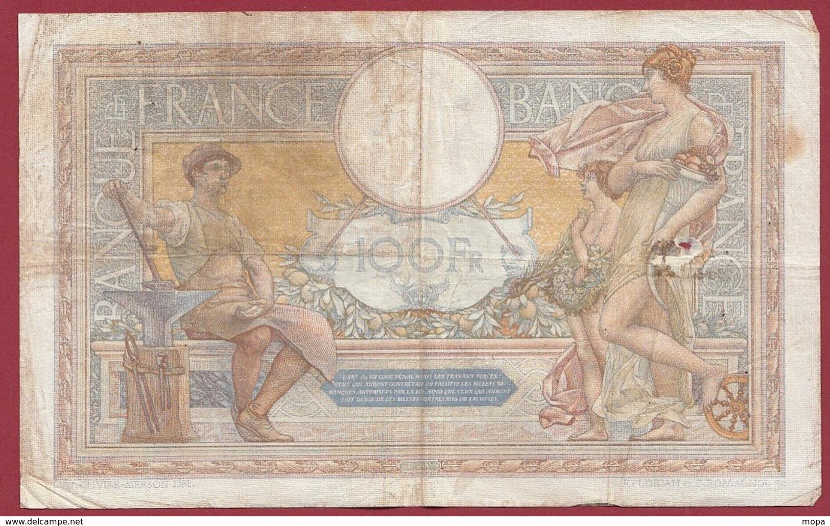"100 Francs ""Luc Olivier Merson"" Du 16/11/1933.A.X----F/TTB+---ALPH .X.41770 - 1871-1952 Gedurende De XXste In Omloop"