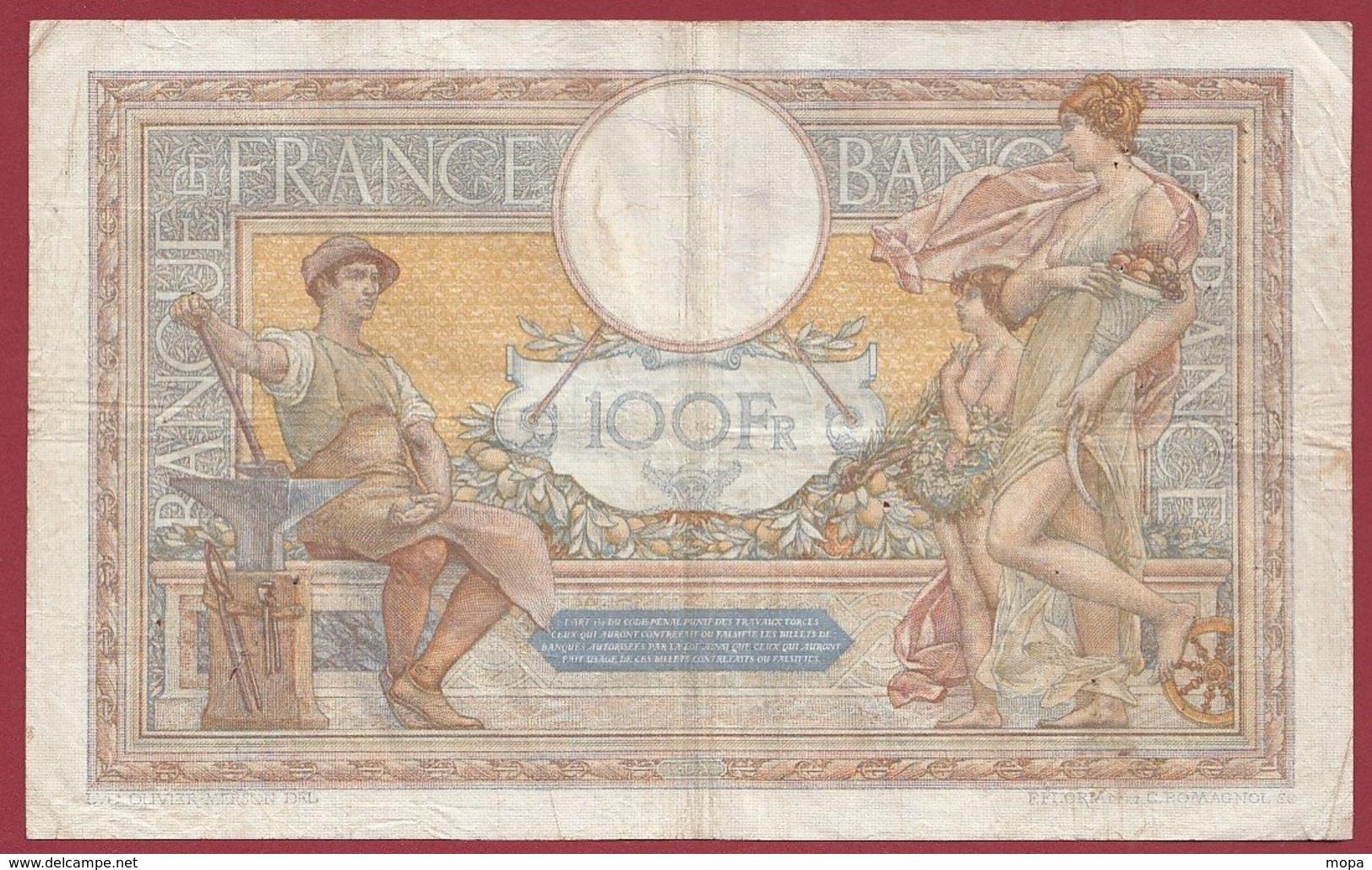 "100 Francs ""Luc Olivier Merson"" Du 14/12/1933.C.F----F/TTB+---ALPH .E.42090 - 1871-1952 Gedurende De XXste In Omloop"