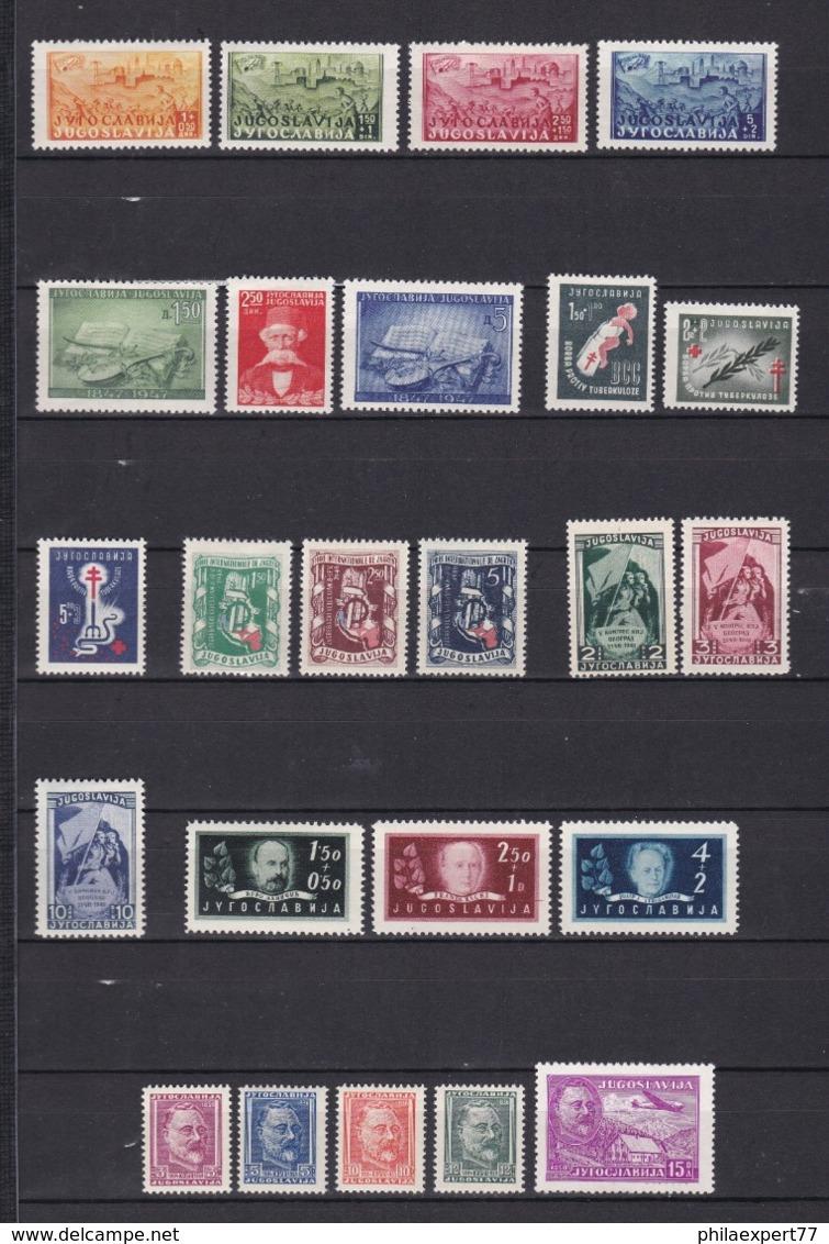 Jugoslawien - 1947/48 - Sammlung - Ungebr. - Nuovi