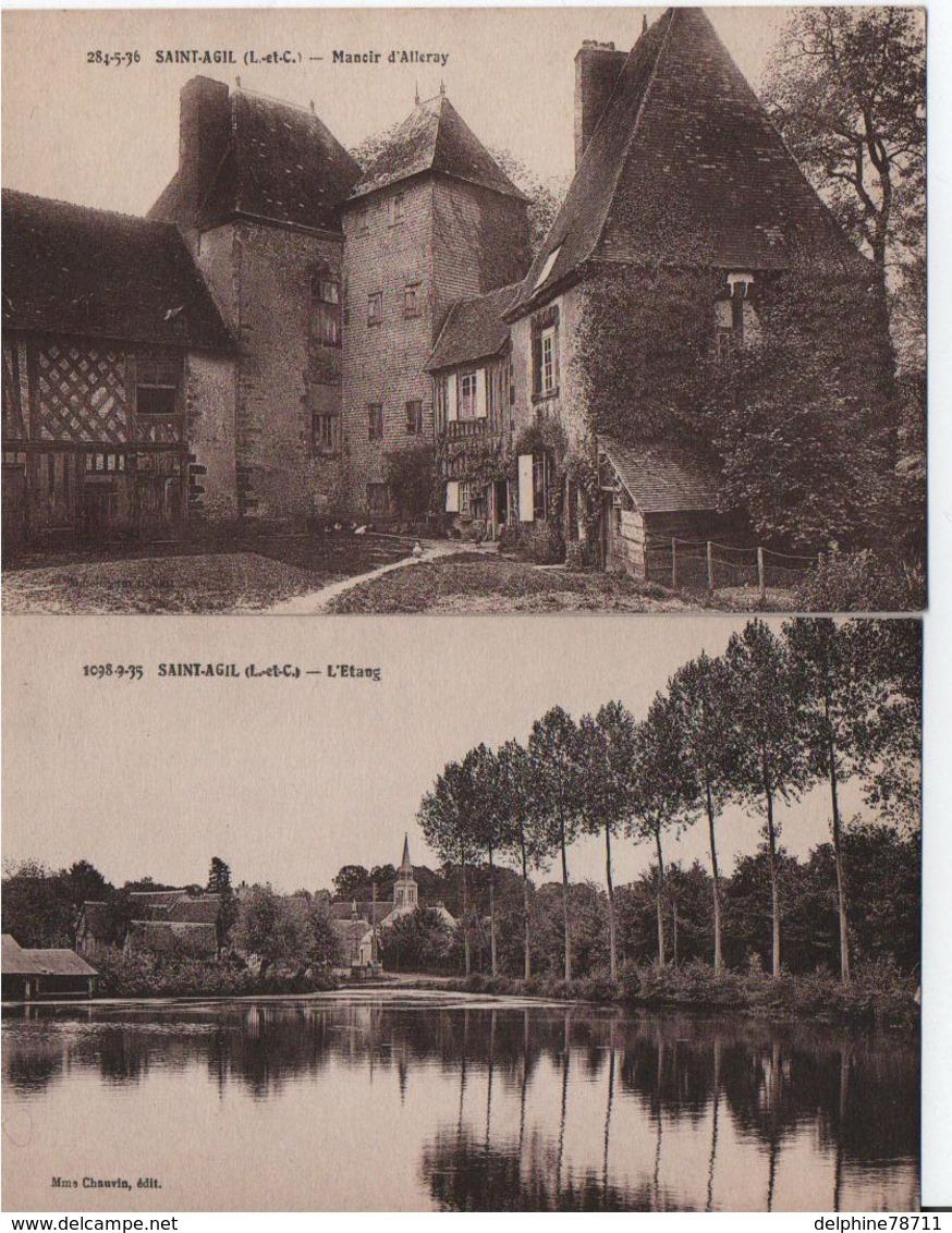 SAINT-AGIL-Lot De 2 CPAs - Frankrijk
