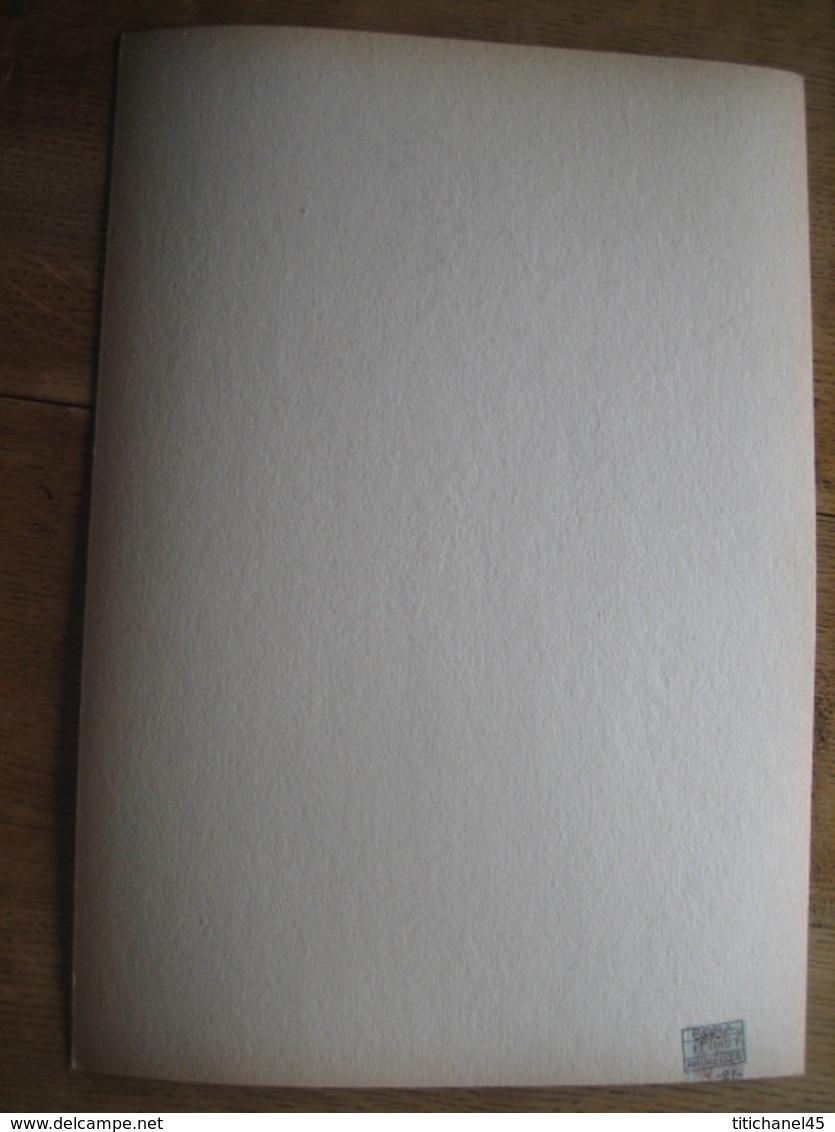 Carton Publicitaire De 1961 -Procédé KURSAAL -Gamme De Produits Professionnels De Soins Capillaires -Dessin De COOREMANS - Placas De Cartón