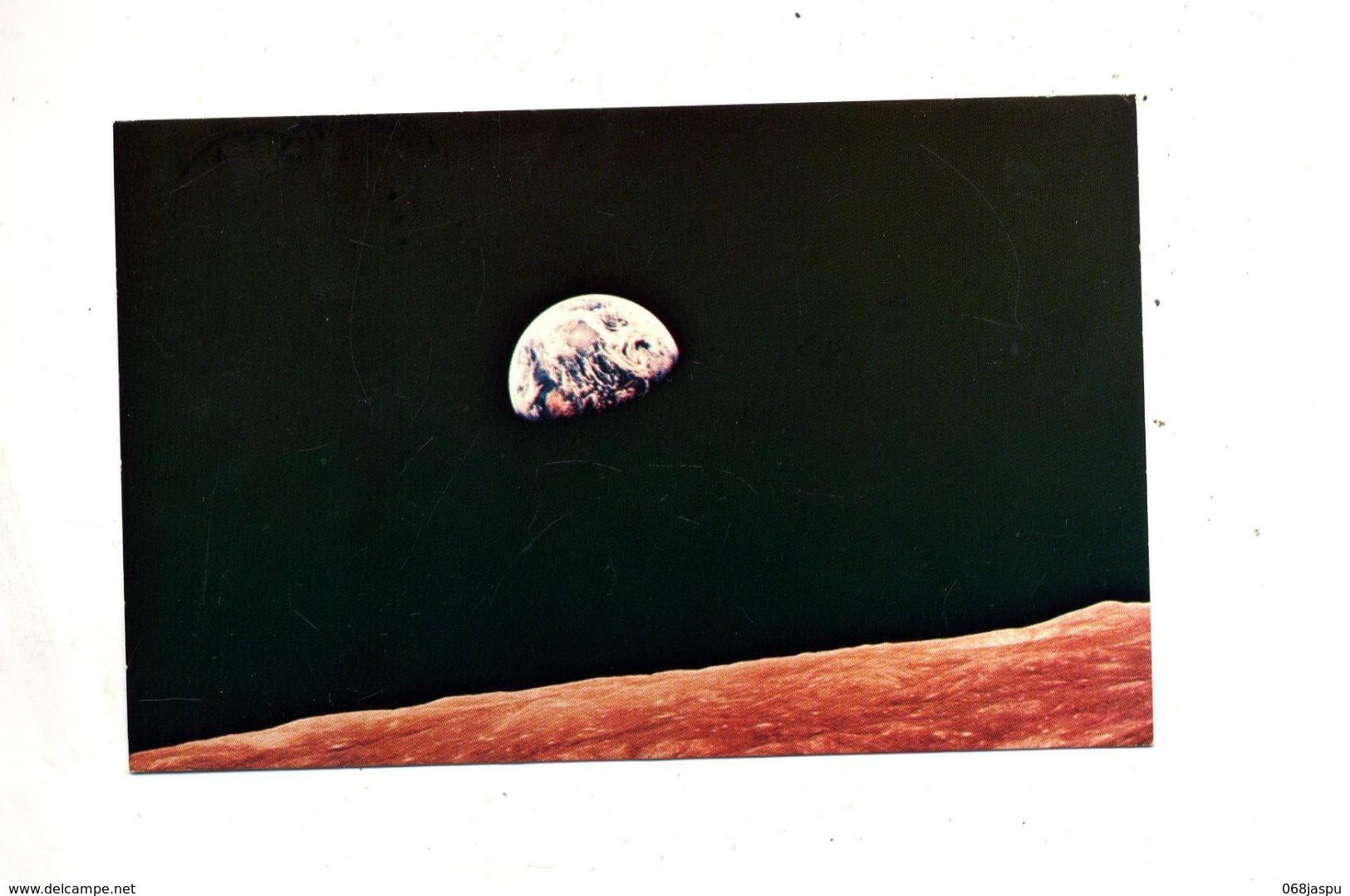Carte  Lune Vue Appolo 8 - Astronomia