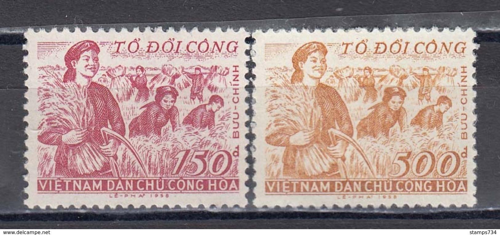Vietnam Nord 1958 - Agricultural Aid, Mi-Nr. 87/88, MNH** - Vietnam