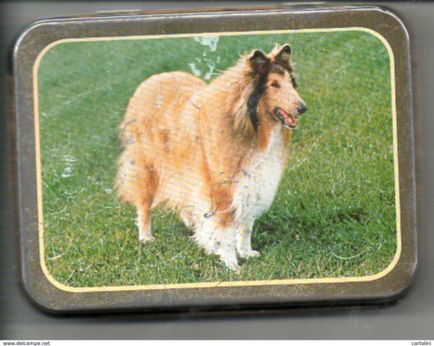 Tabaksdoos Boite De  Tabac Tabak  Reclame Rizla Publiciteit Afb.  Hond  Chien Dog Hund  Collie Lassie - Contenitori Di Tabacco (vuoti)