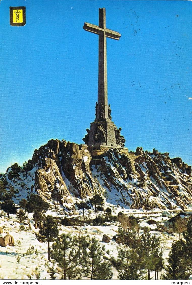 34625. Postal MONASTERIO VALLE De Los CAIDOS (Madrid) 1977. Vista De La Cruz - 1931-Hoy: 2ª República - ... Juan Carlos I