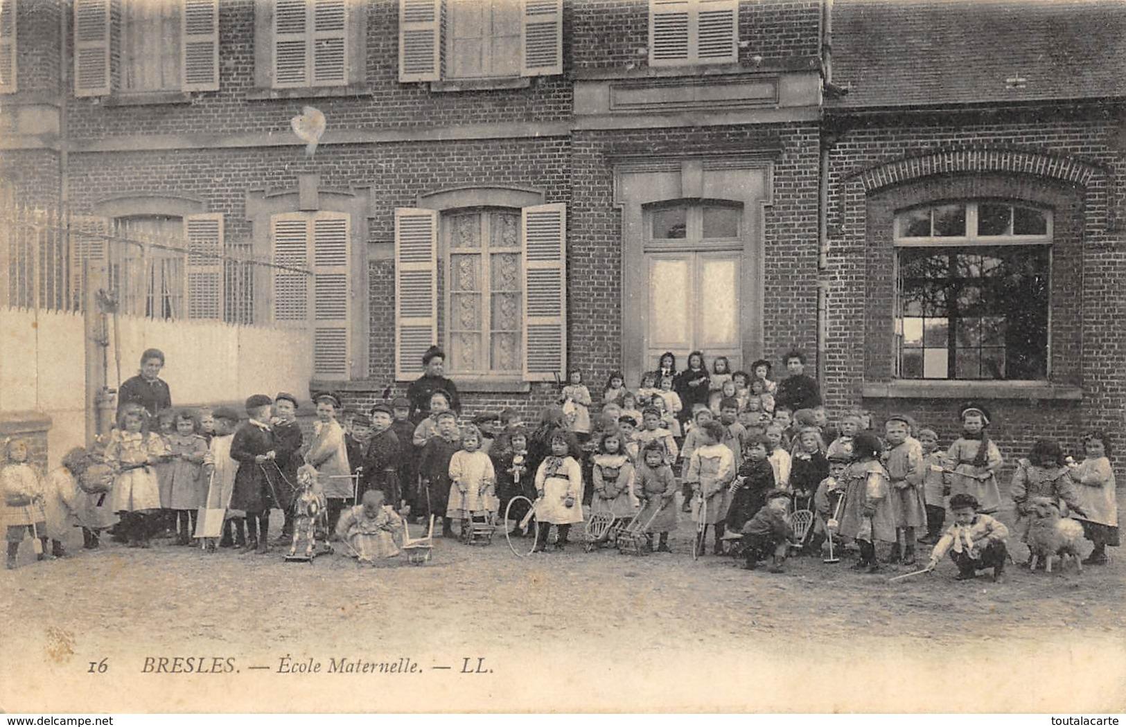 CPA 60 BRESLES ECOLE MATERNELLE  Rare - Autres Communes