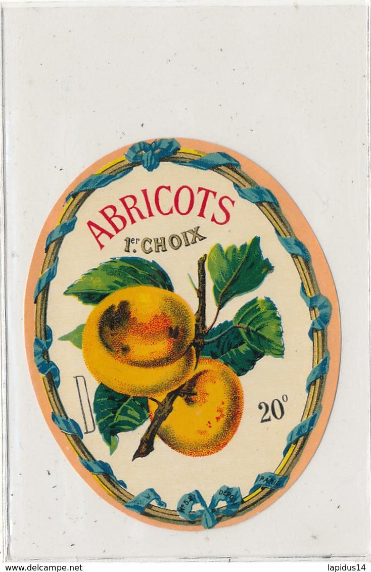 AN 565 / ETIQUETTE     ABRICOTS 1er CHOIX 20 ° - Labels
