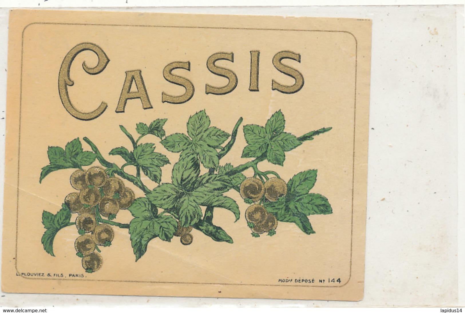 AN 603 / ETIQUETTE  CASSIS  N° 144 - Unclassified