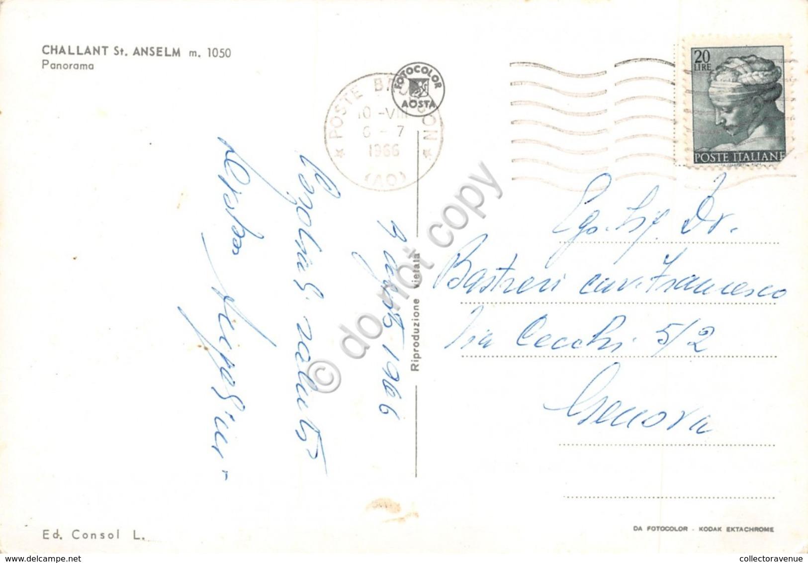 Cartolina Challant St. Anselm Panorama 1966 - Unclassified