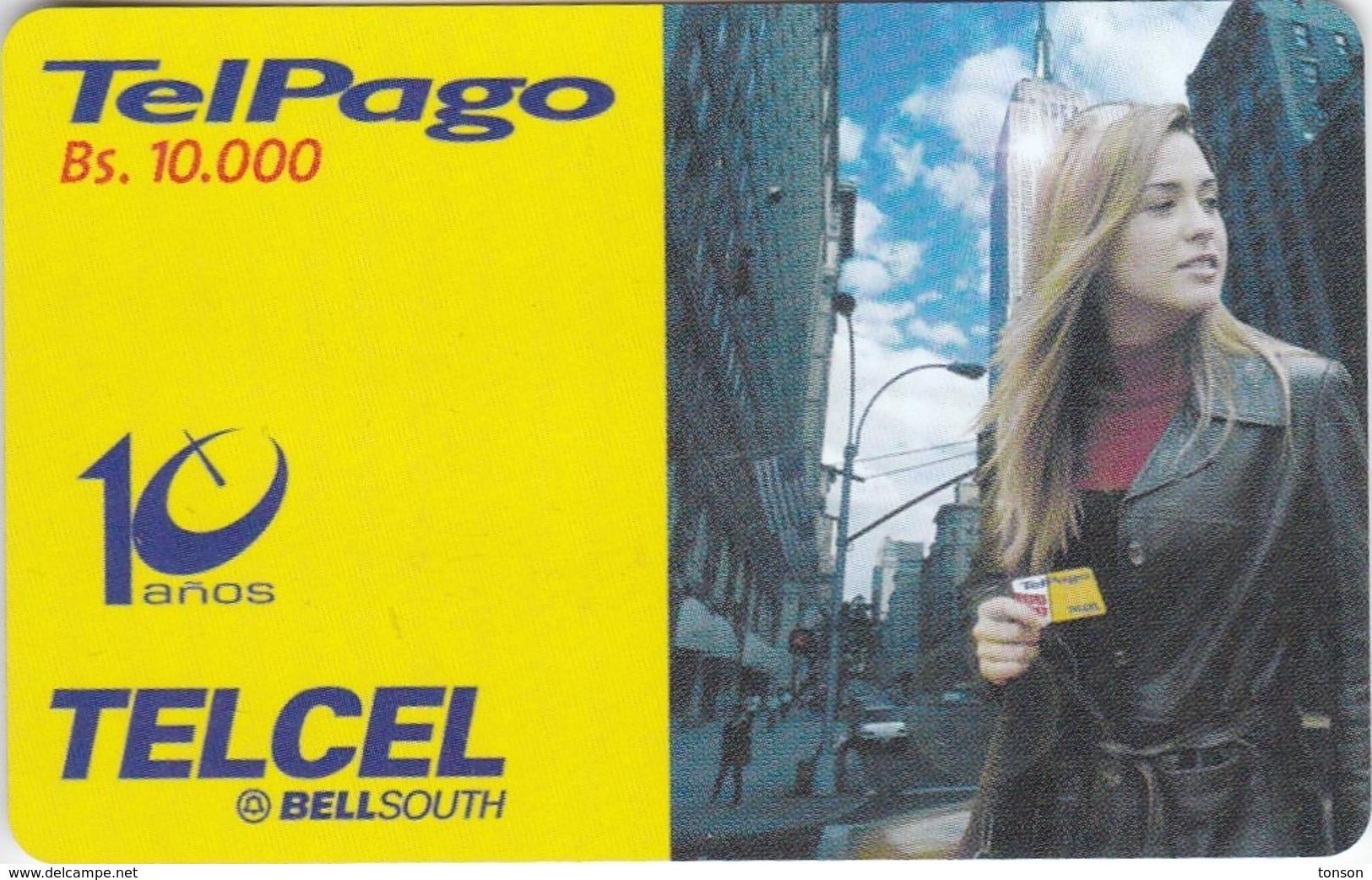 Venezuela, VE-TELCEL-049,  Erika De La Vega, 2 Scans. - Venezuela