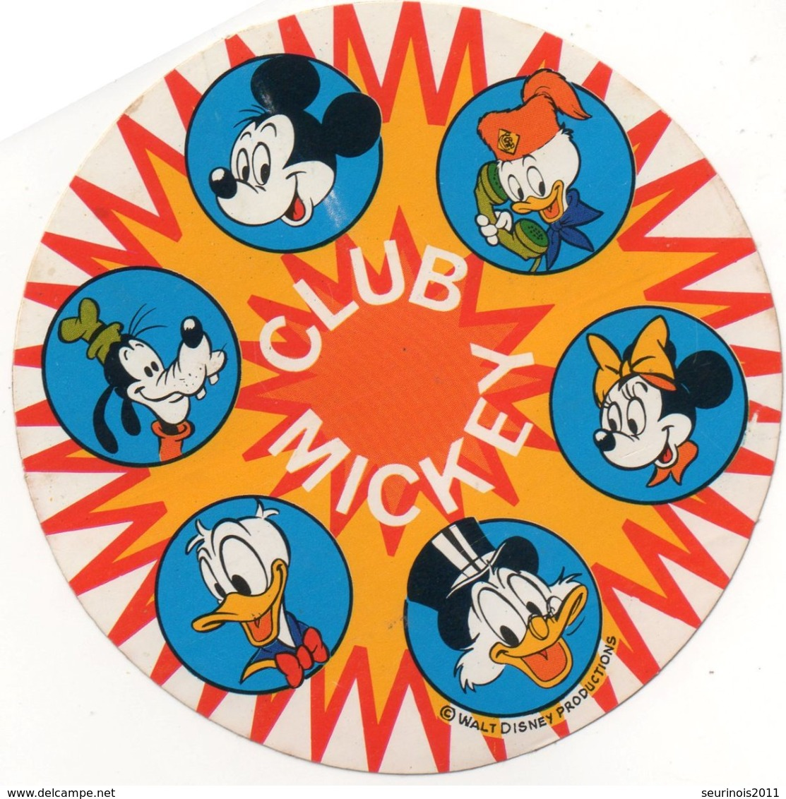 Autocollant CLUB MICKEY - Aufkleber