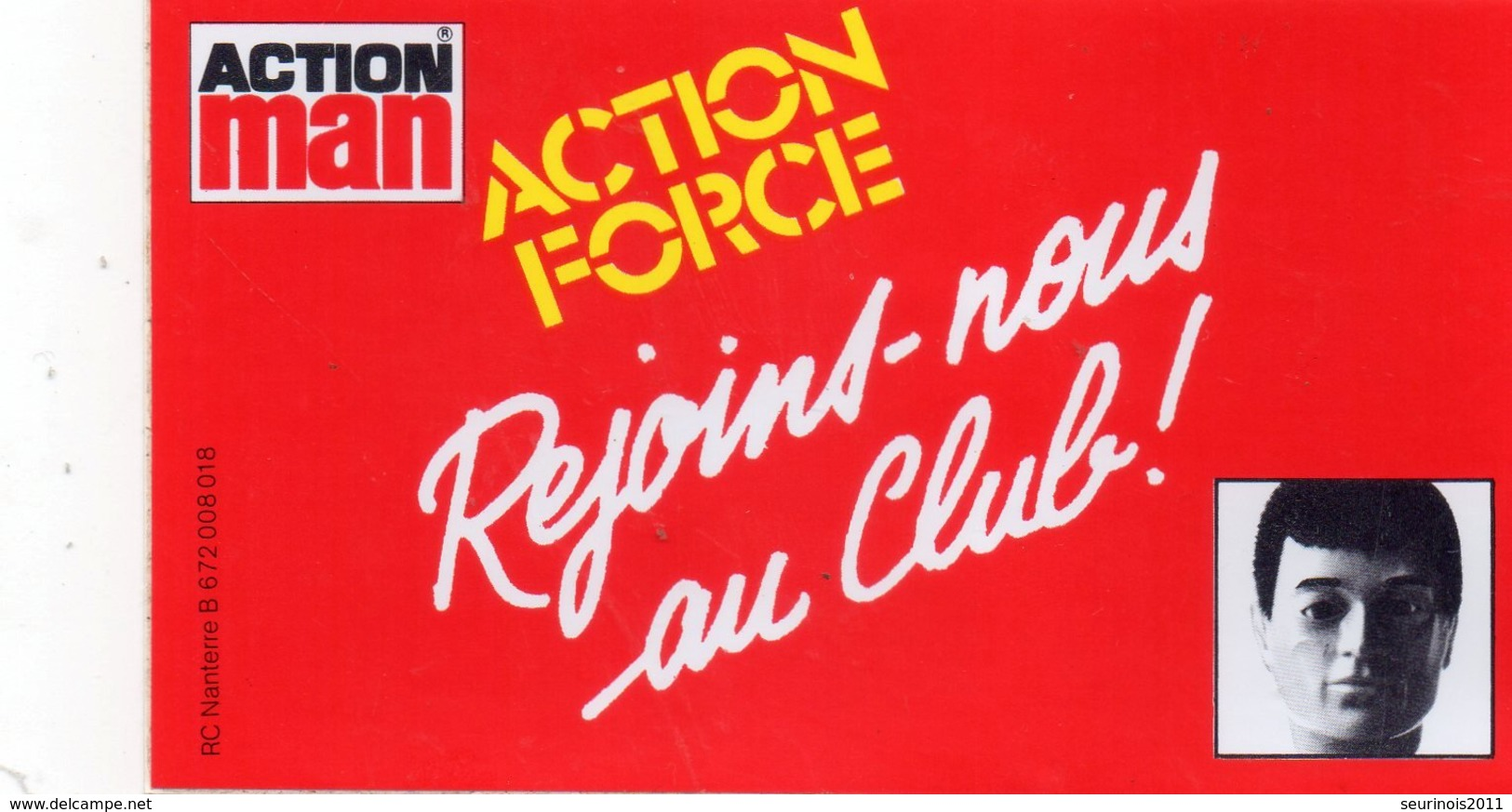 Autocollant CLUB ACTION MAN - Pegatinas