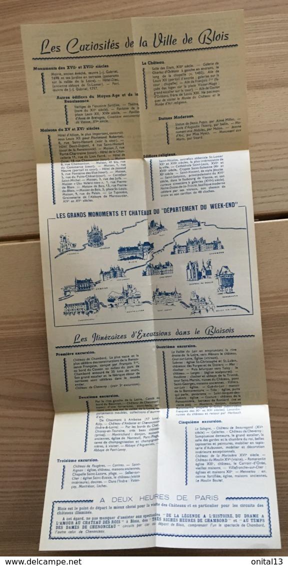 ANCIEN DEPLIANT TOURISTIQUE BLOIS LOIR ET CHER    E32 - Toeristische Brochures